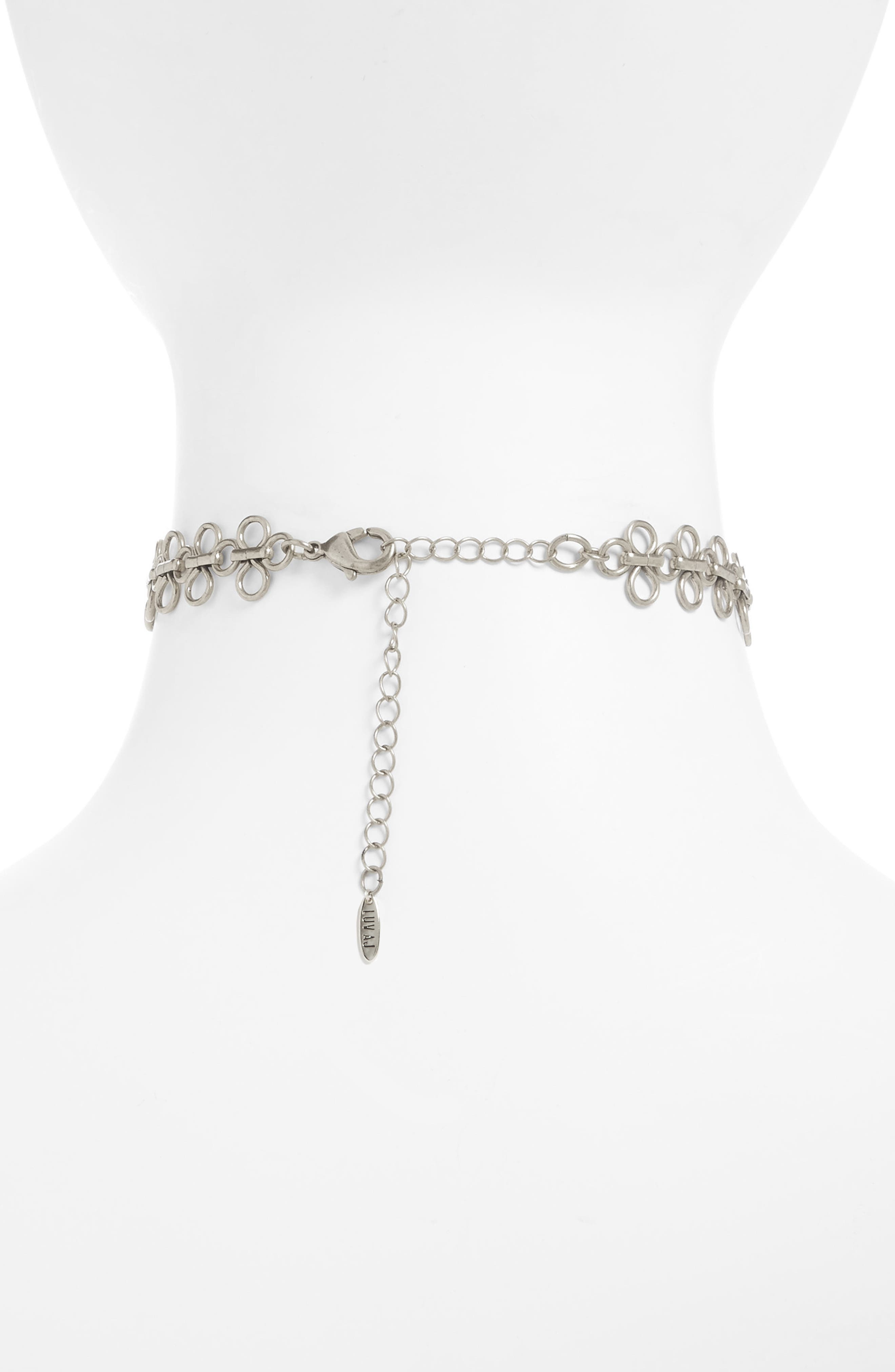 Lace Link Choker Necklace,                             Alternate thumbnail 2, color,                             040