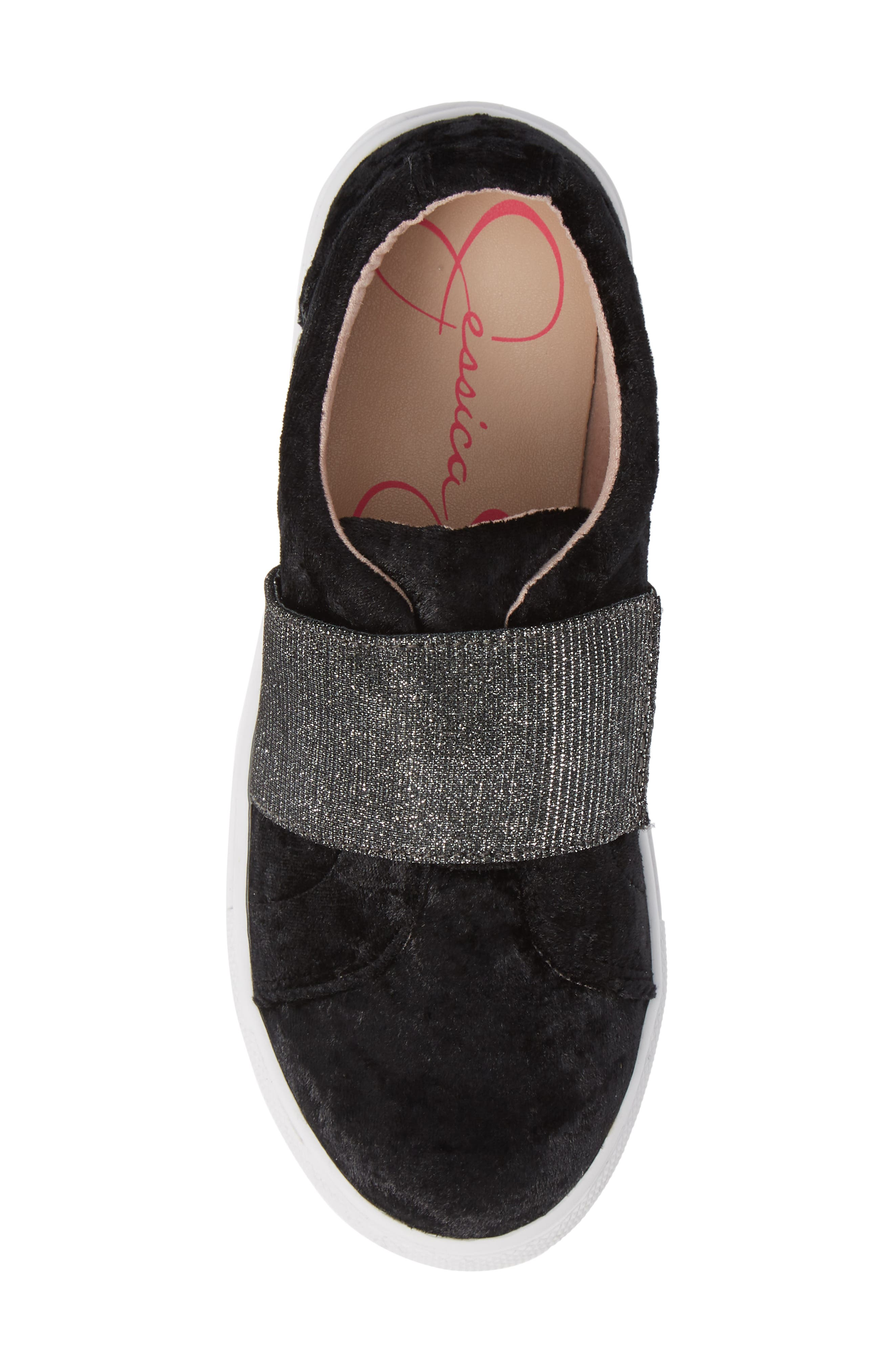 Sparkle Slip-On Sneaker,                             Alternate thumbnail 5, color,                             BLACK CRUSHED VELVET