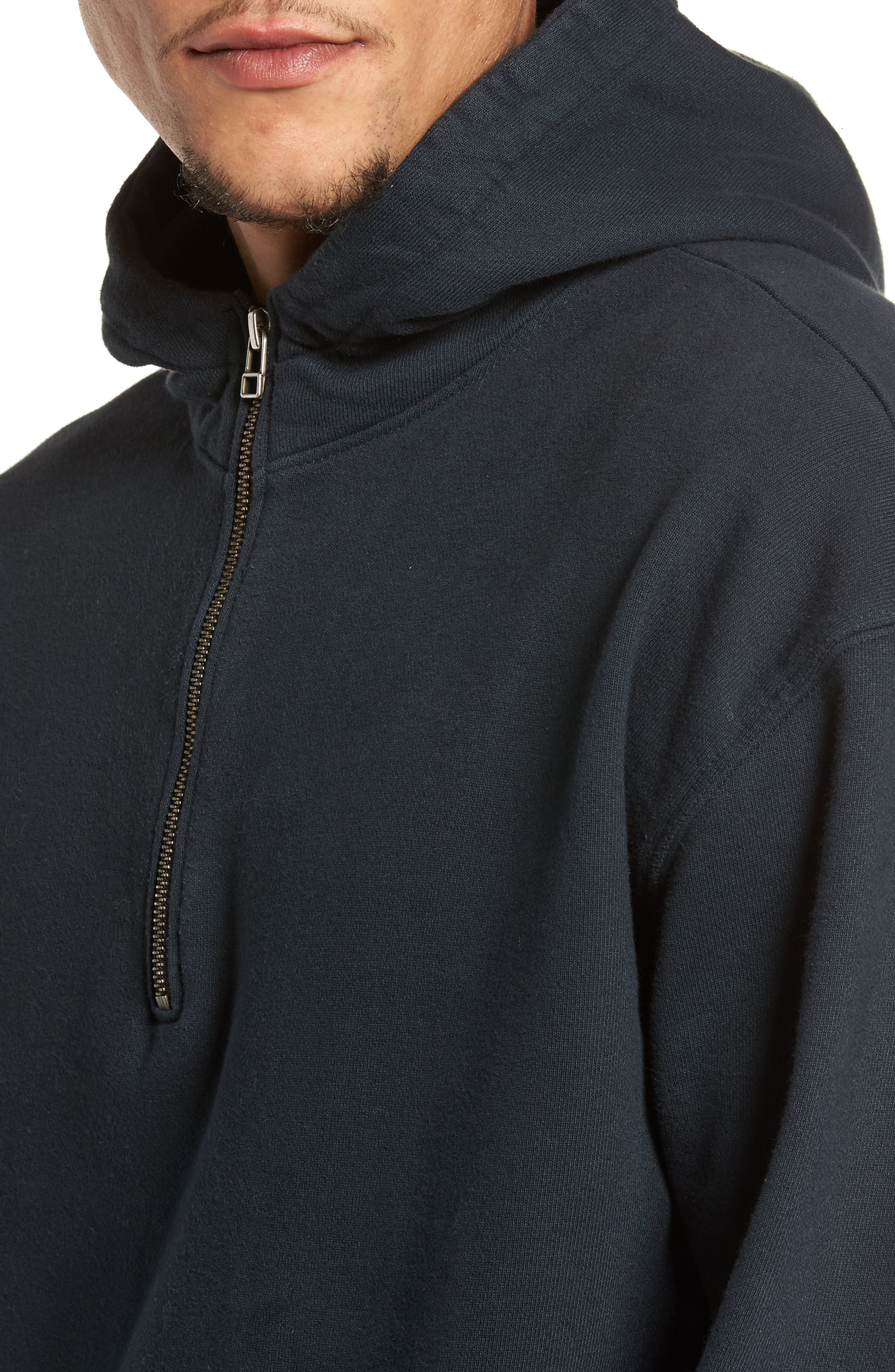 French Terry Hoodie,                             Alternate thumbnail 4, color,                             001