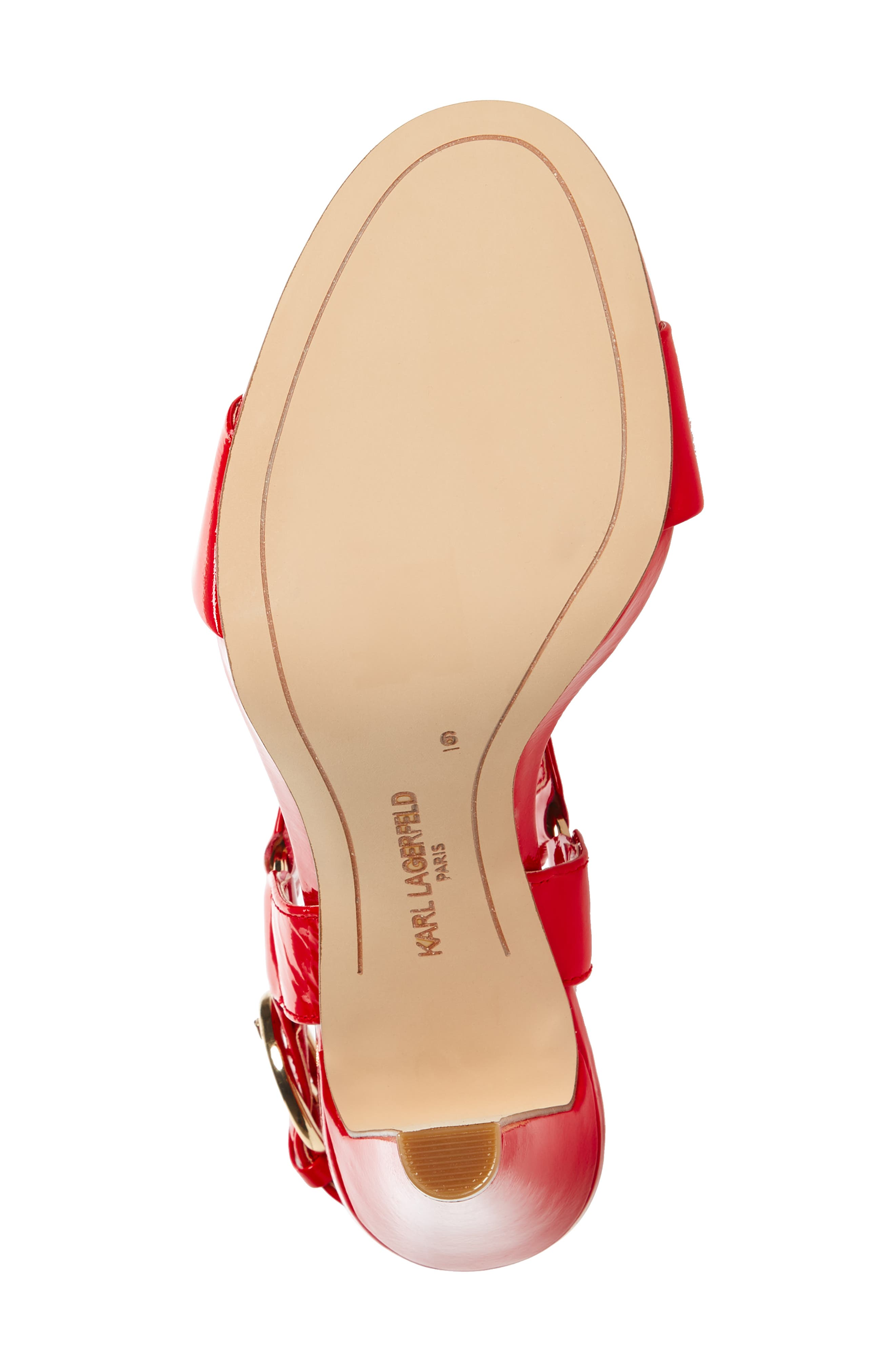 Cieone Sandal,                             Alternate thumbnail 6, color,                             RED PATENT