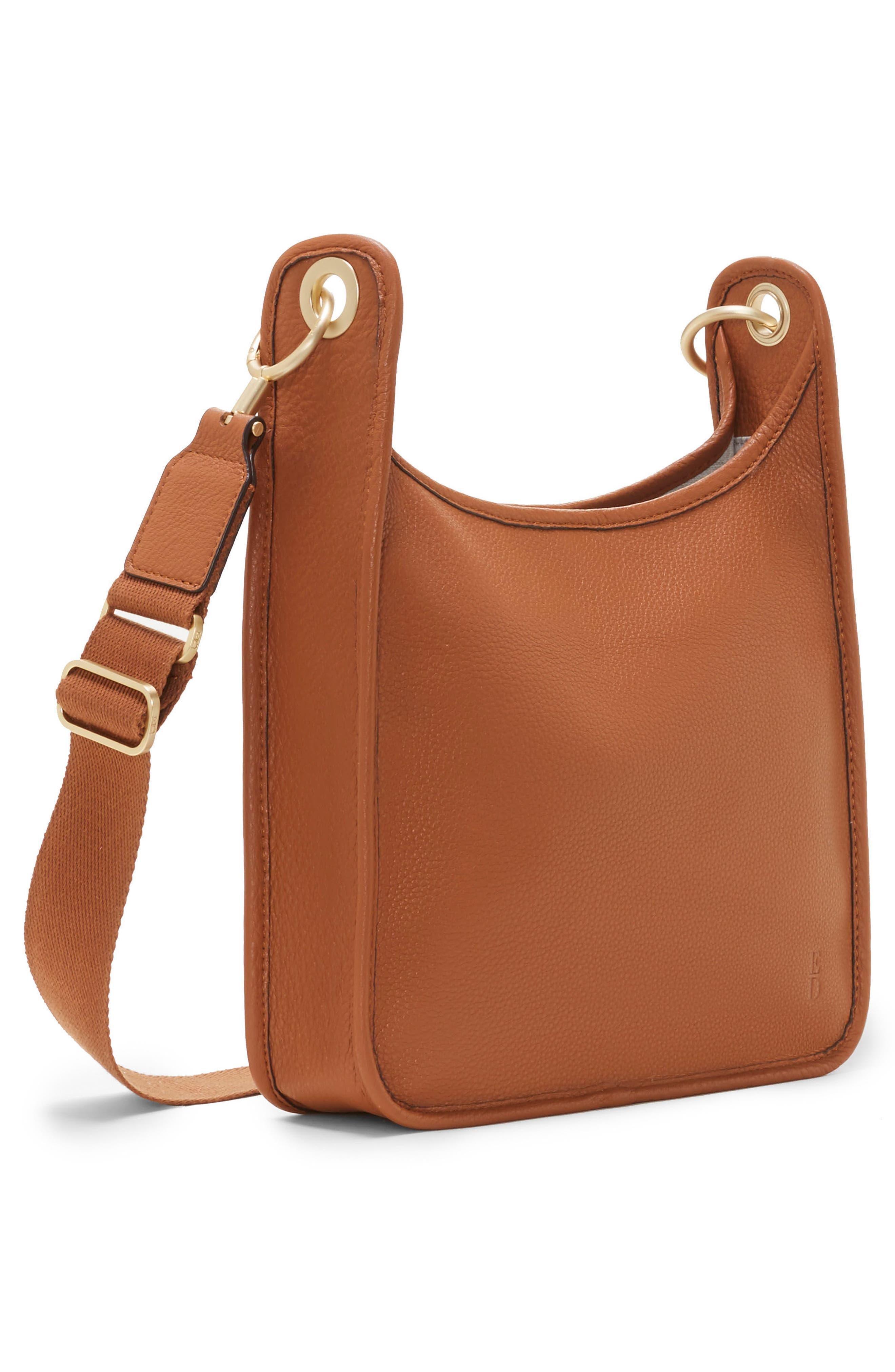 Leather Crossbody Bag,                             Alternate thumbnail 4, color,                             201