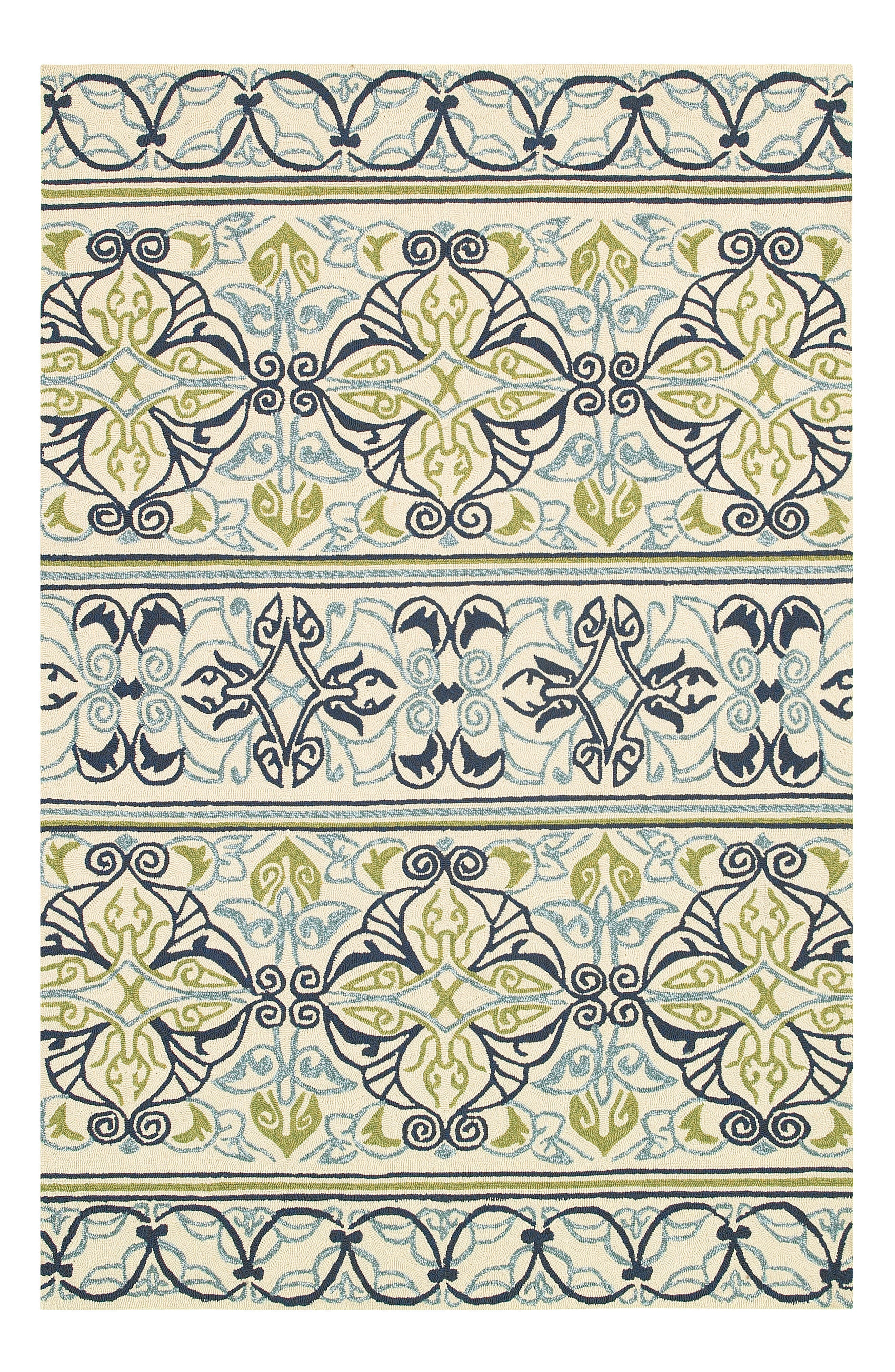 Pegasus Indoor/Outdoor Rug,                             Alternate thumbnail 2, color,                             IVORY/ NAVY/ LIME