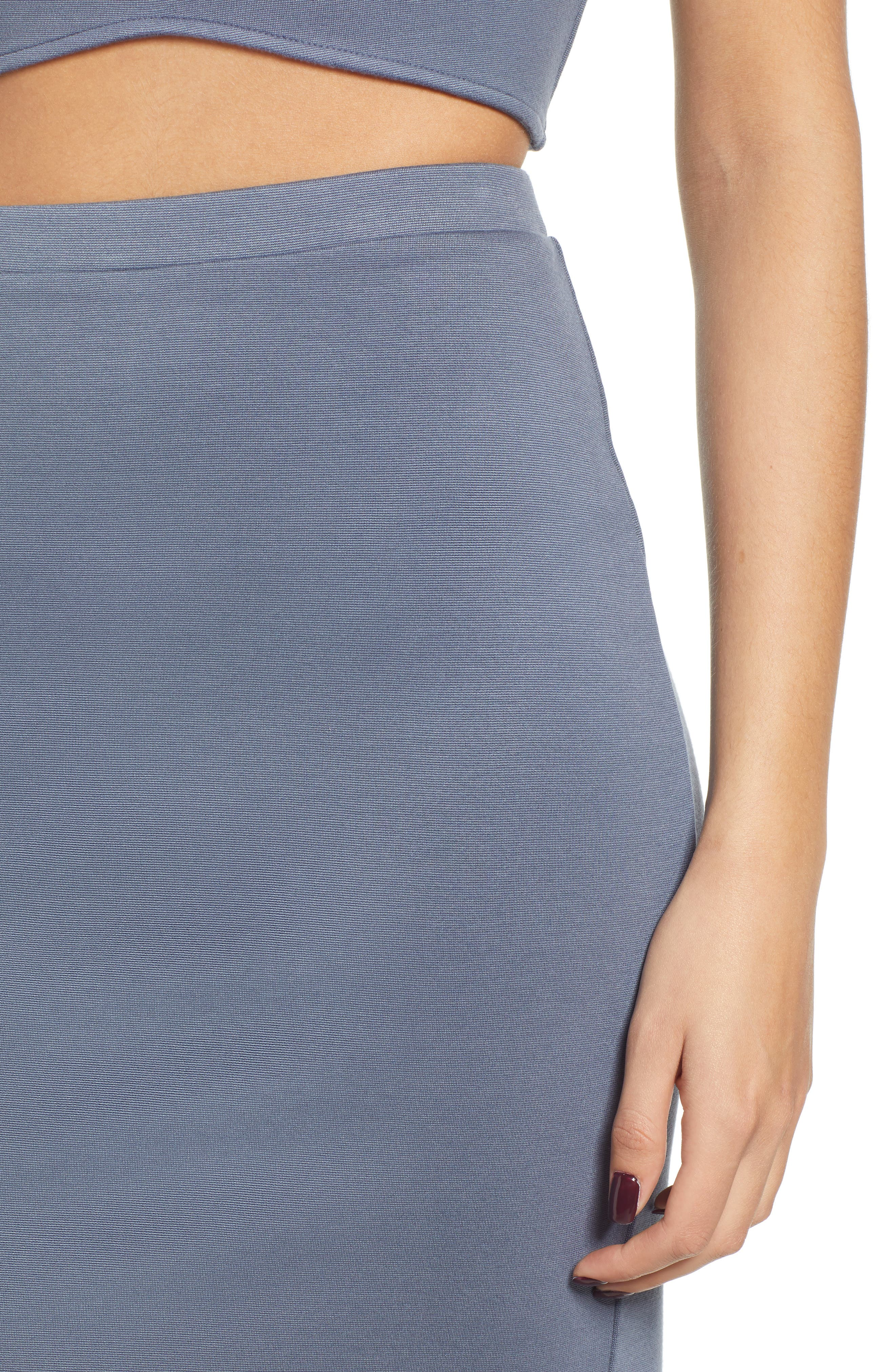 Pencil Skirt,                             Alternate thumbnail 4, color,                             GREY GRISAILLE