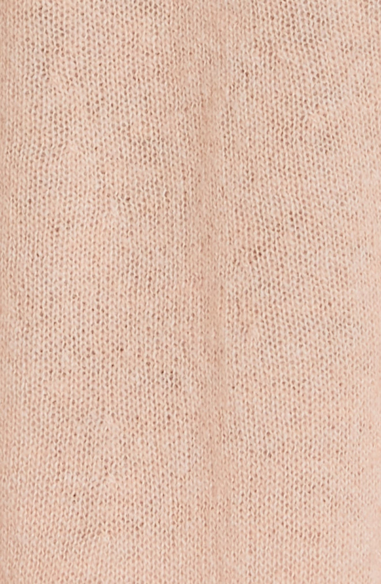 Clover Tie Back Cashmere Blend Sweater,                             Alternate thumbnail 5, color,                             ROSE