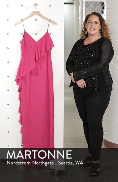 Asymmetrical Ruffle Column Gown, sales video thumbnail