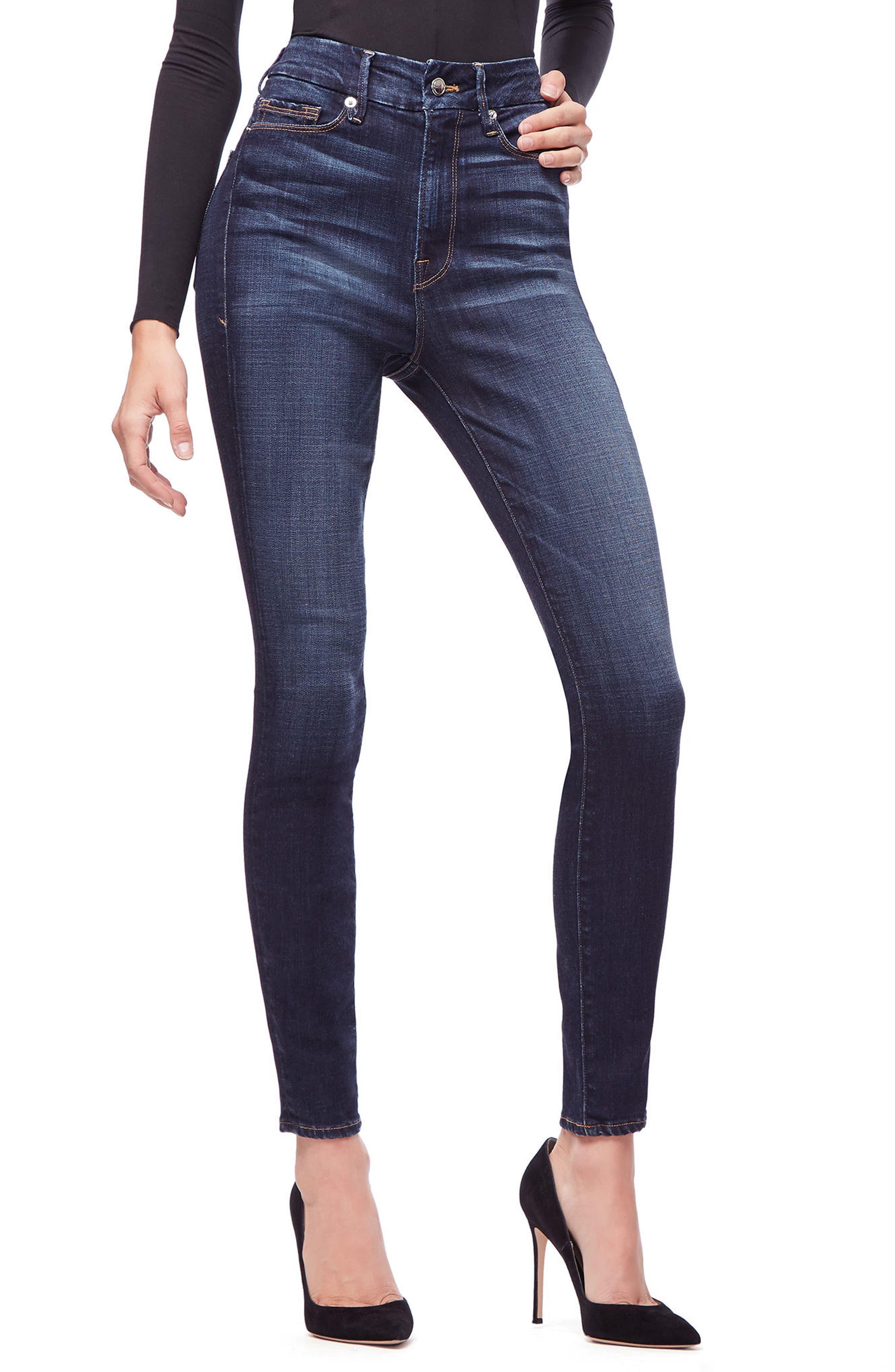 GOOD AMERICAN,                             Good Legs High Waist Skinny Jeans,                             Main thumbnail 1, color,                             401
