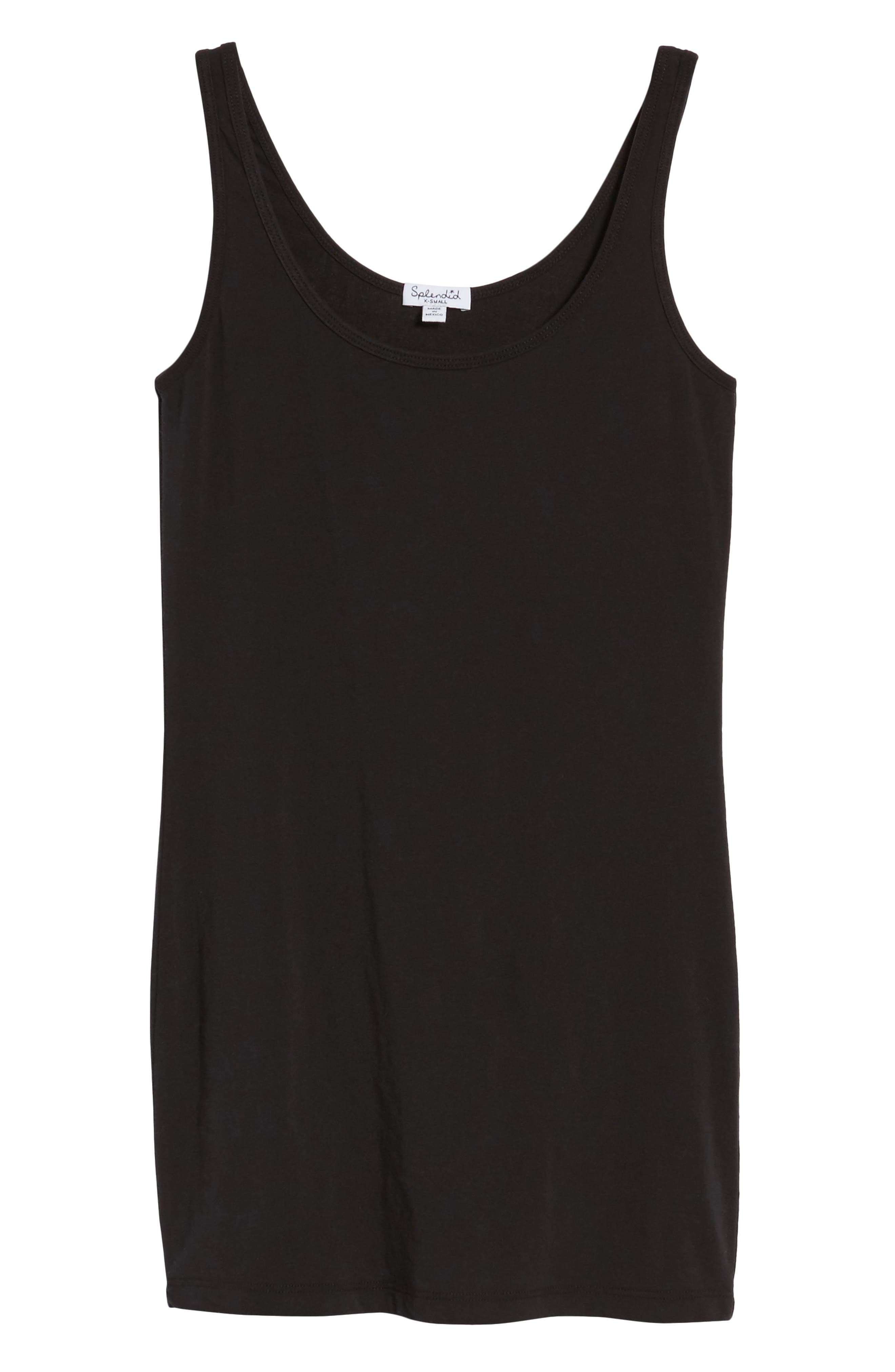 Scoop Neck Stretch Tank,                             Alternate thumbnail 7, color,                             001