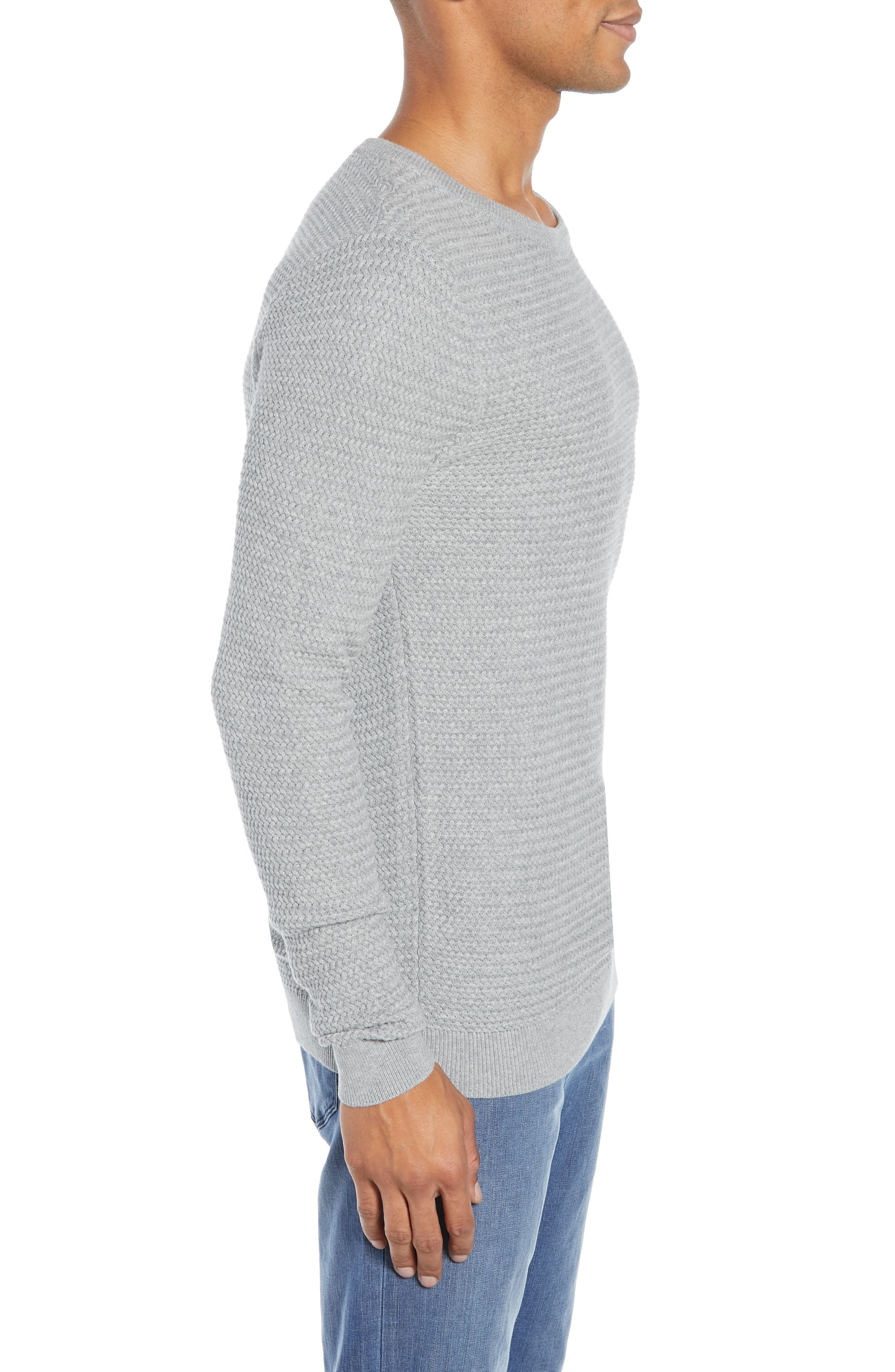 Martin Regular Fit Crewneck Sweater,                             Alternate thumbnail 3, color,                             MEDIUM GREY
