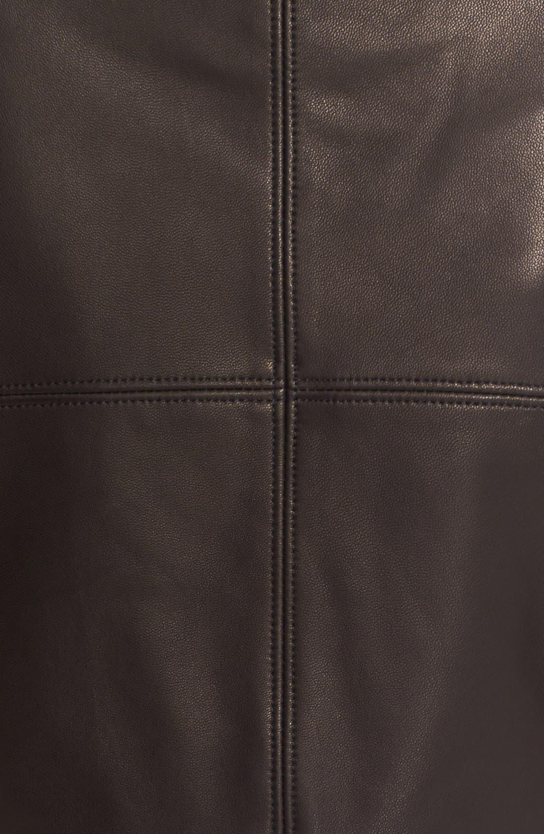 'Gimmy' Crop Lambskin Leather Jacket,                             Alternate thumbnail 4, color,