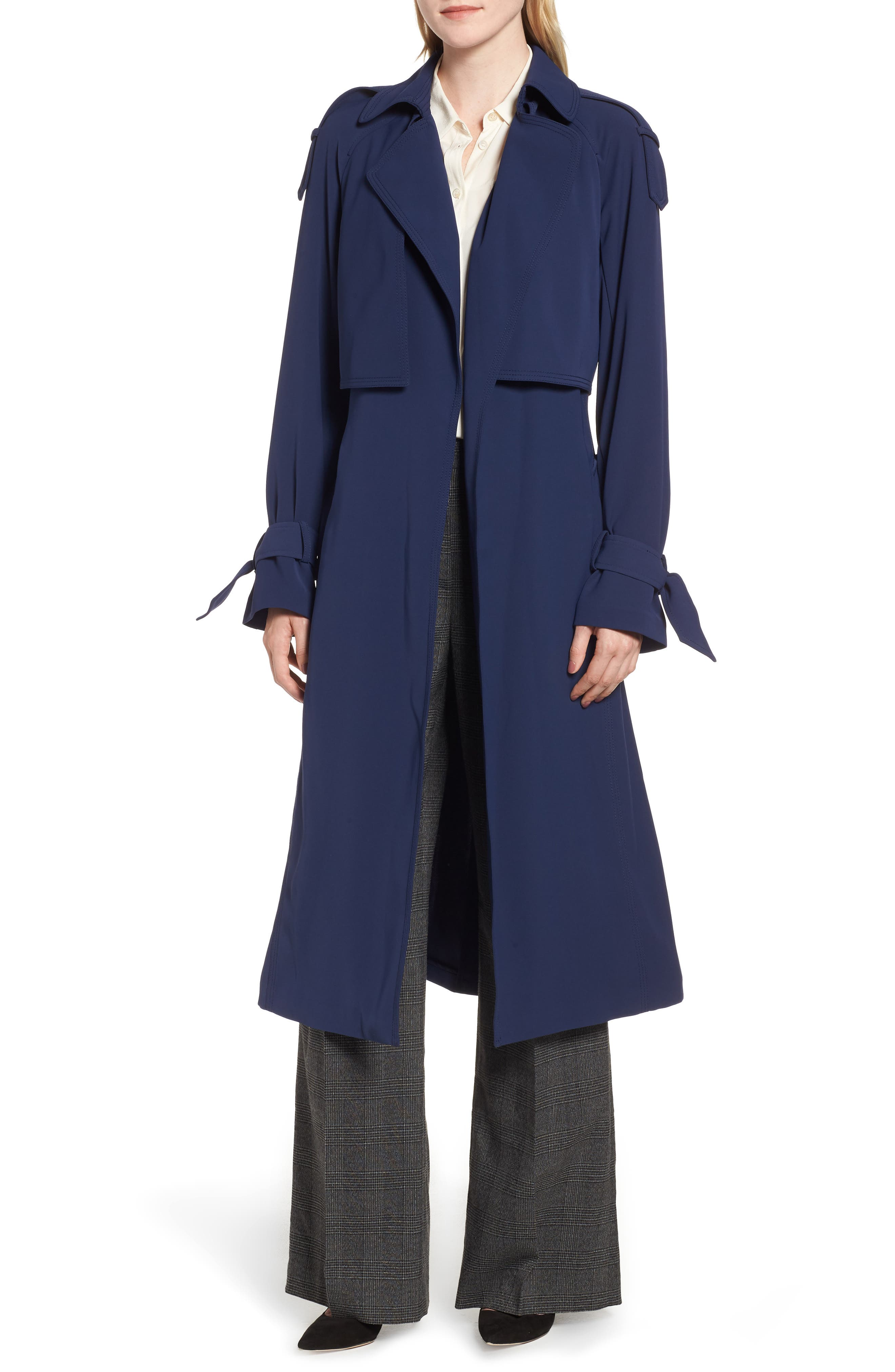 Drapey Trench Caot, Main, color, 456