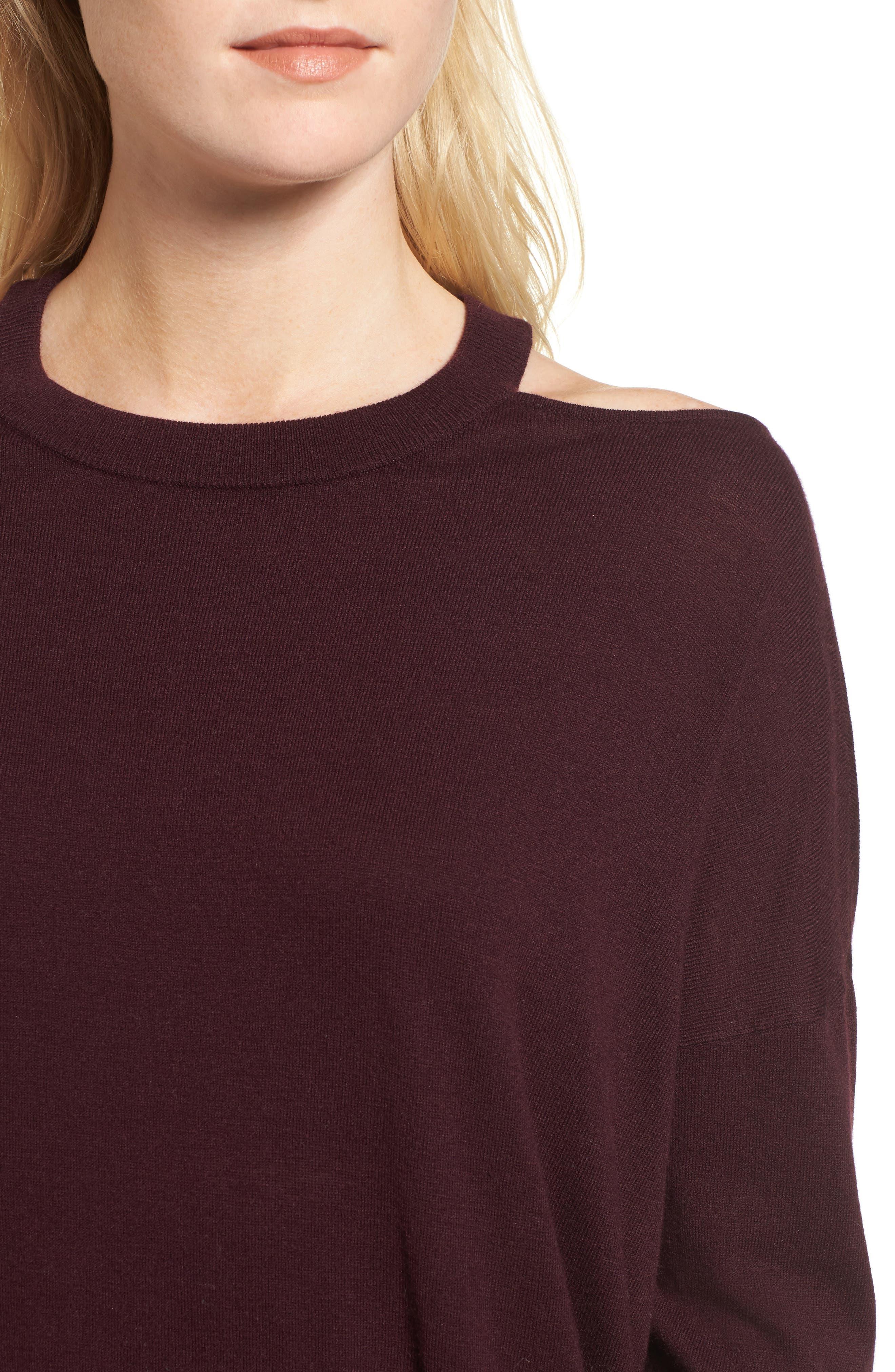 Canarise Cutout Sweater,                             Alternate thumbnail 8, color,