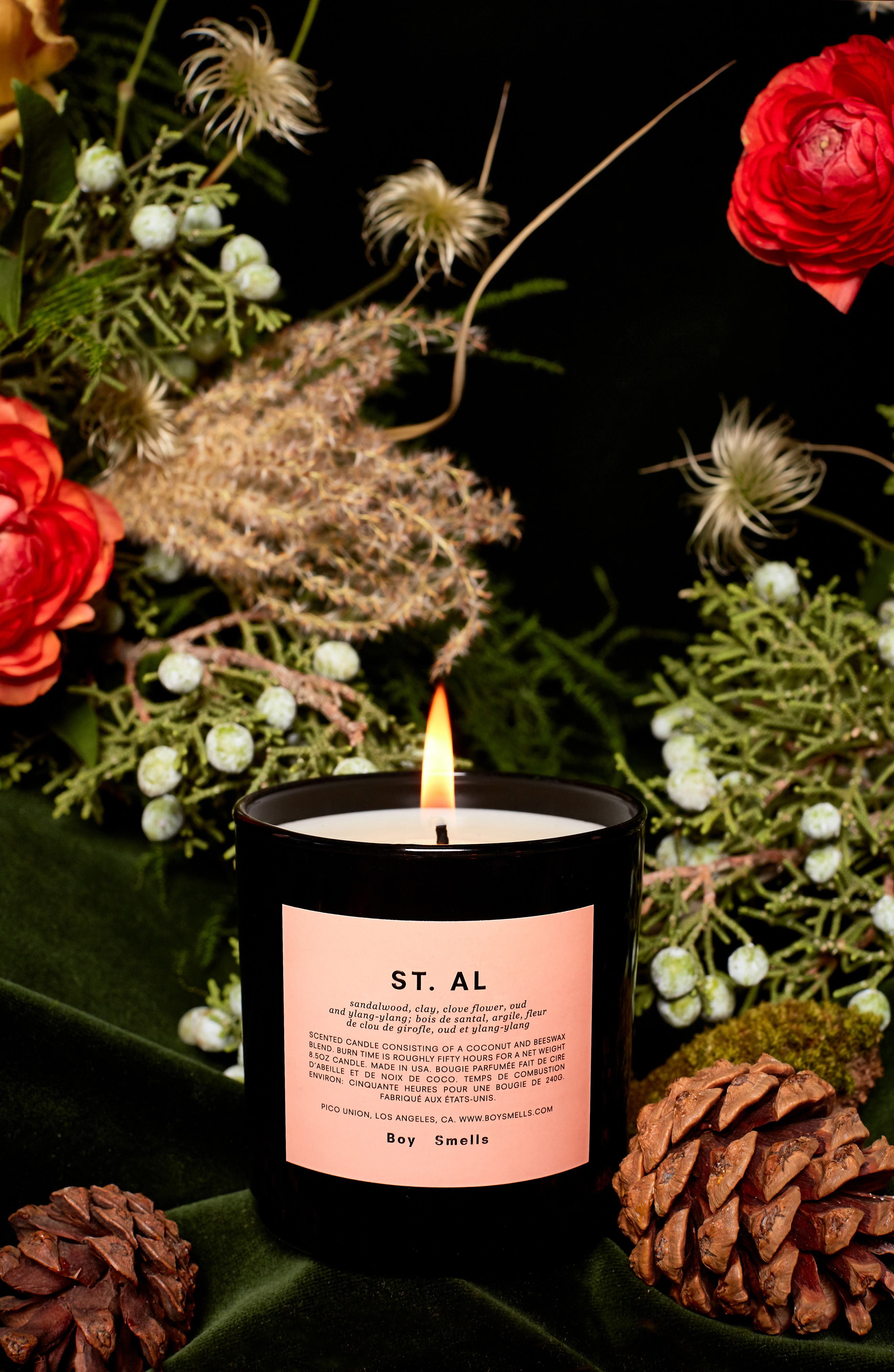 St. Al Scented Candle,                             Alternate thumbnail 2, color,                             PINK