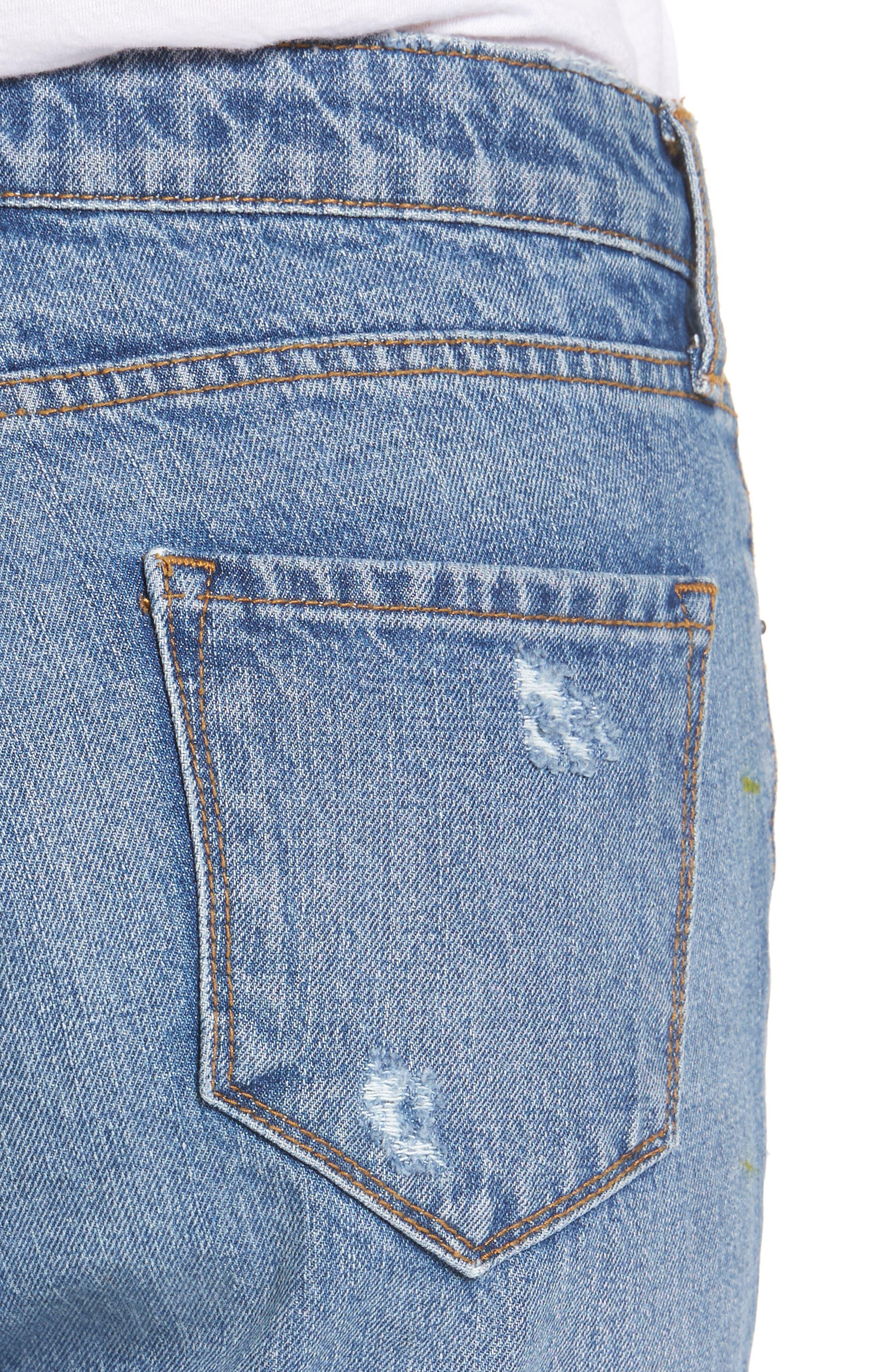 Taylor Ripped Crop Boyfriend Jeans,                             Alternate thumbnail 4, color,                             400