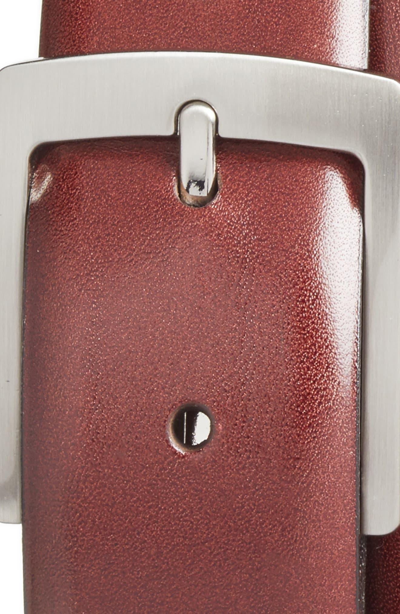 Heritage Leather Belt,                             Alternate thumbnail 2, color,                             DARK BROWN