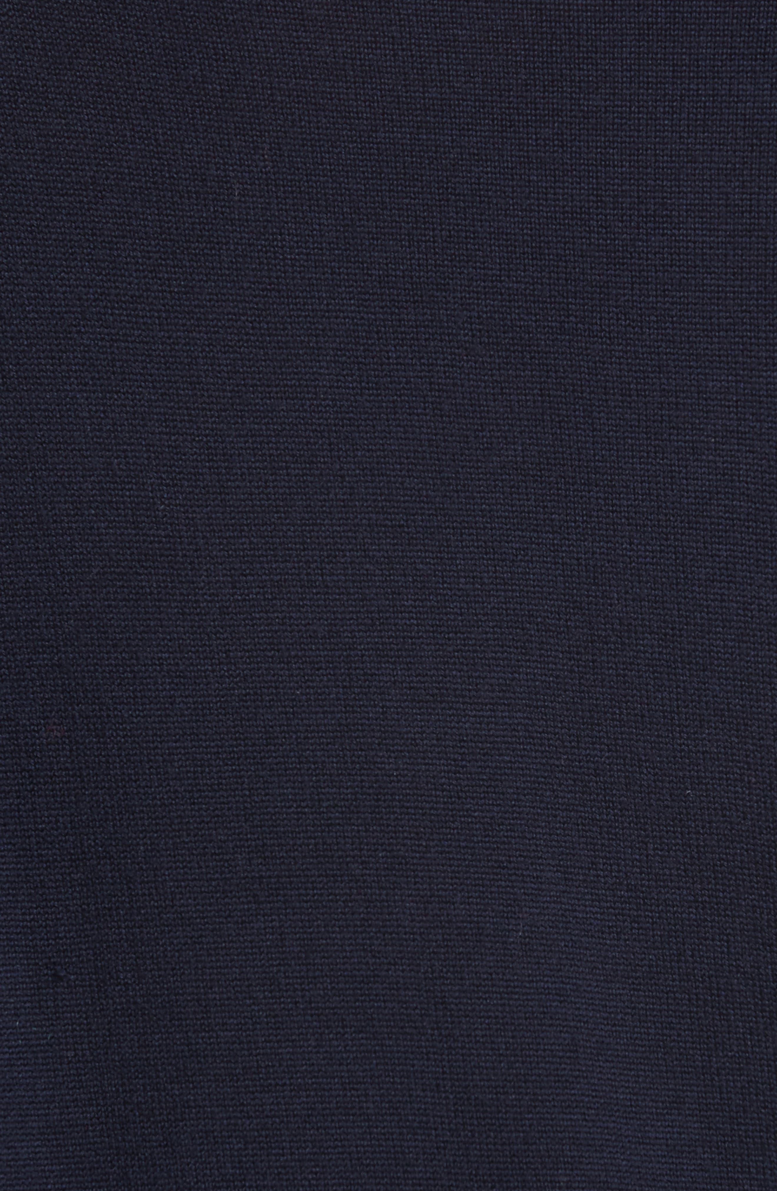 Cotton Gusset Merino Wool Sweater,                             Alternate thumbnail 5, color,