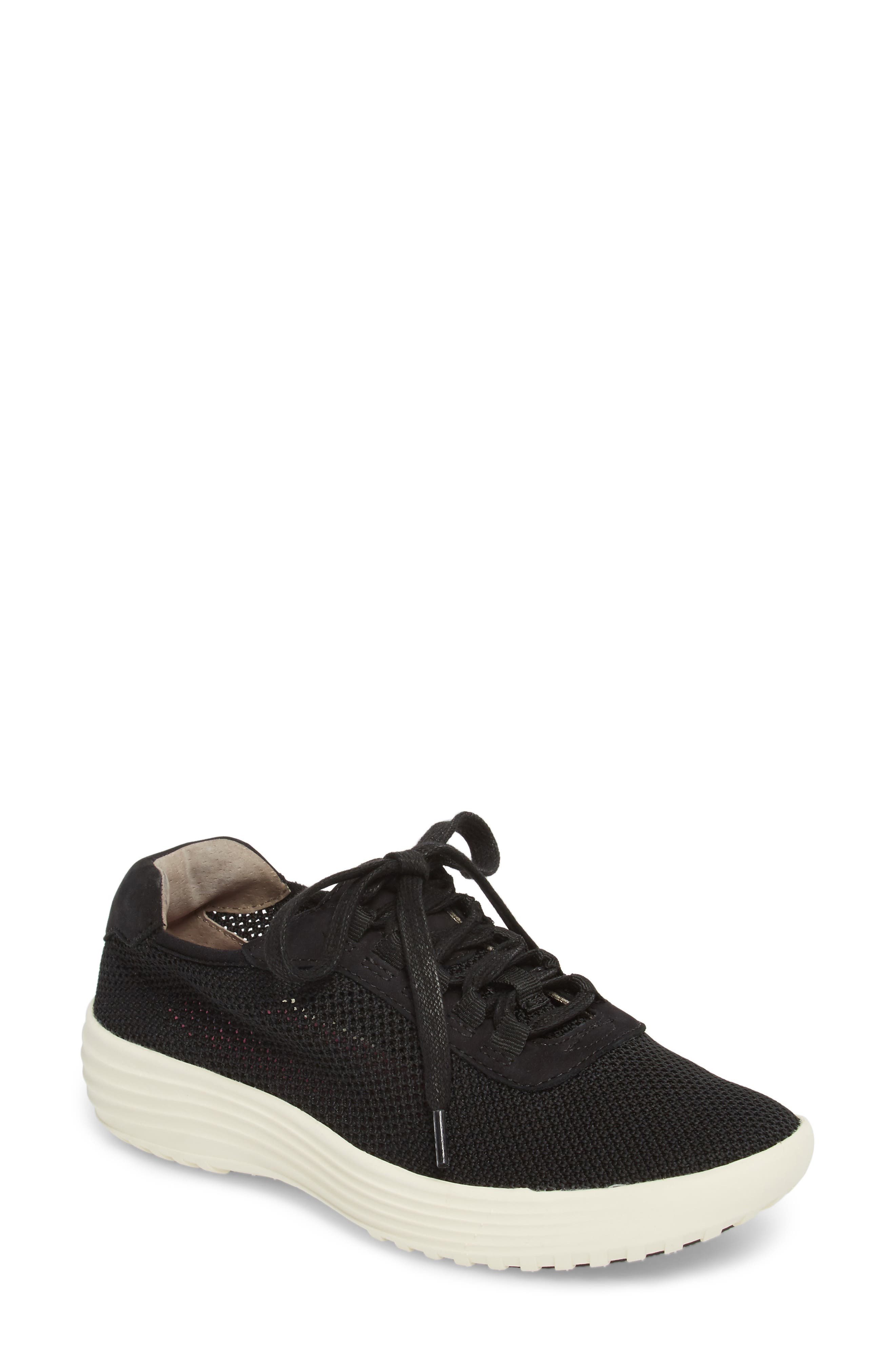 Malibu Sneaker,                         Main,                         color, BLACK KNIT FABRIC