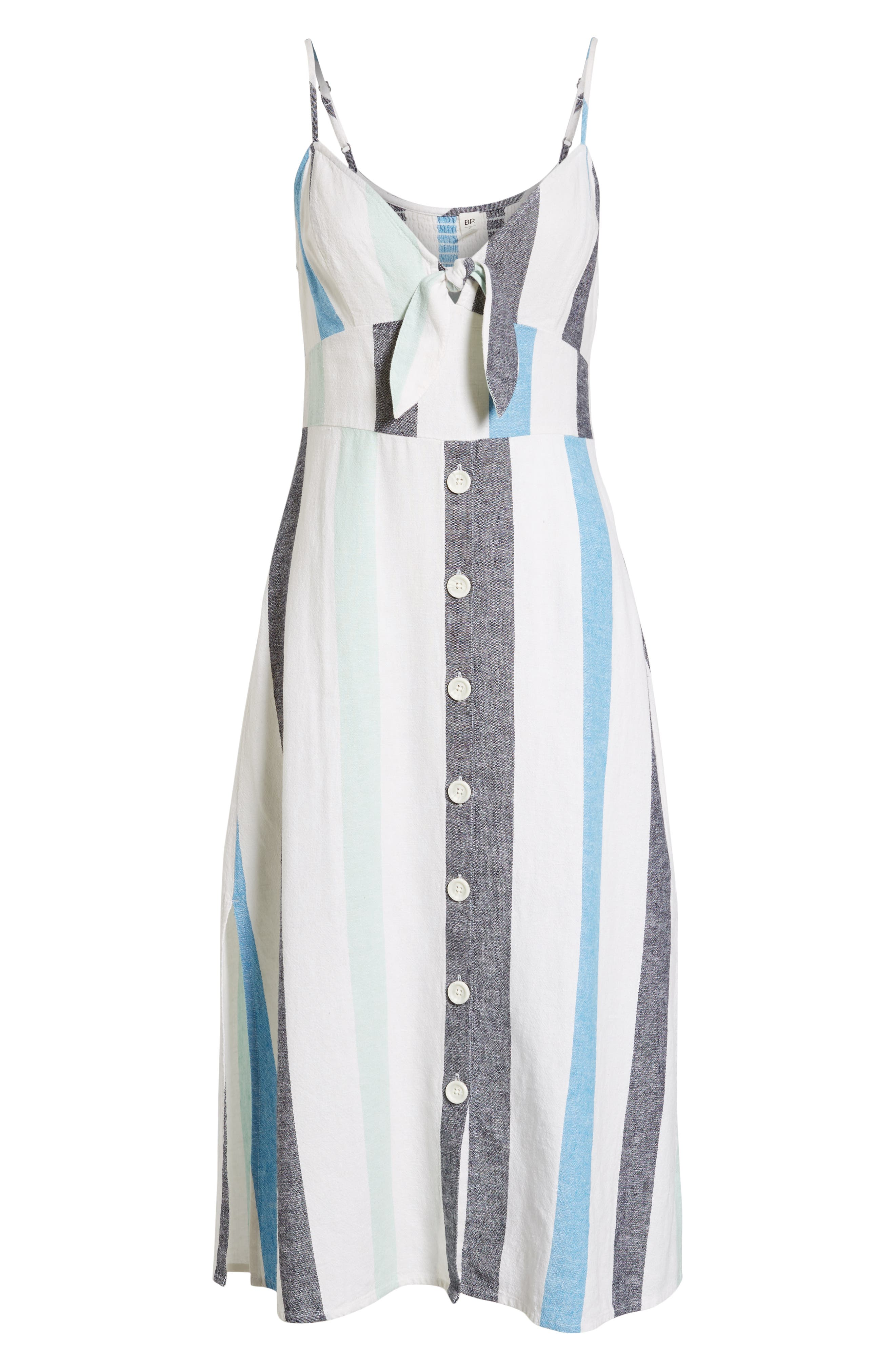 BP.,                             Stripe Sundress,                             Alternate thumbnail 8, color,                             BLUE PLACID LACY STRIPE