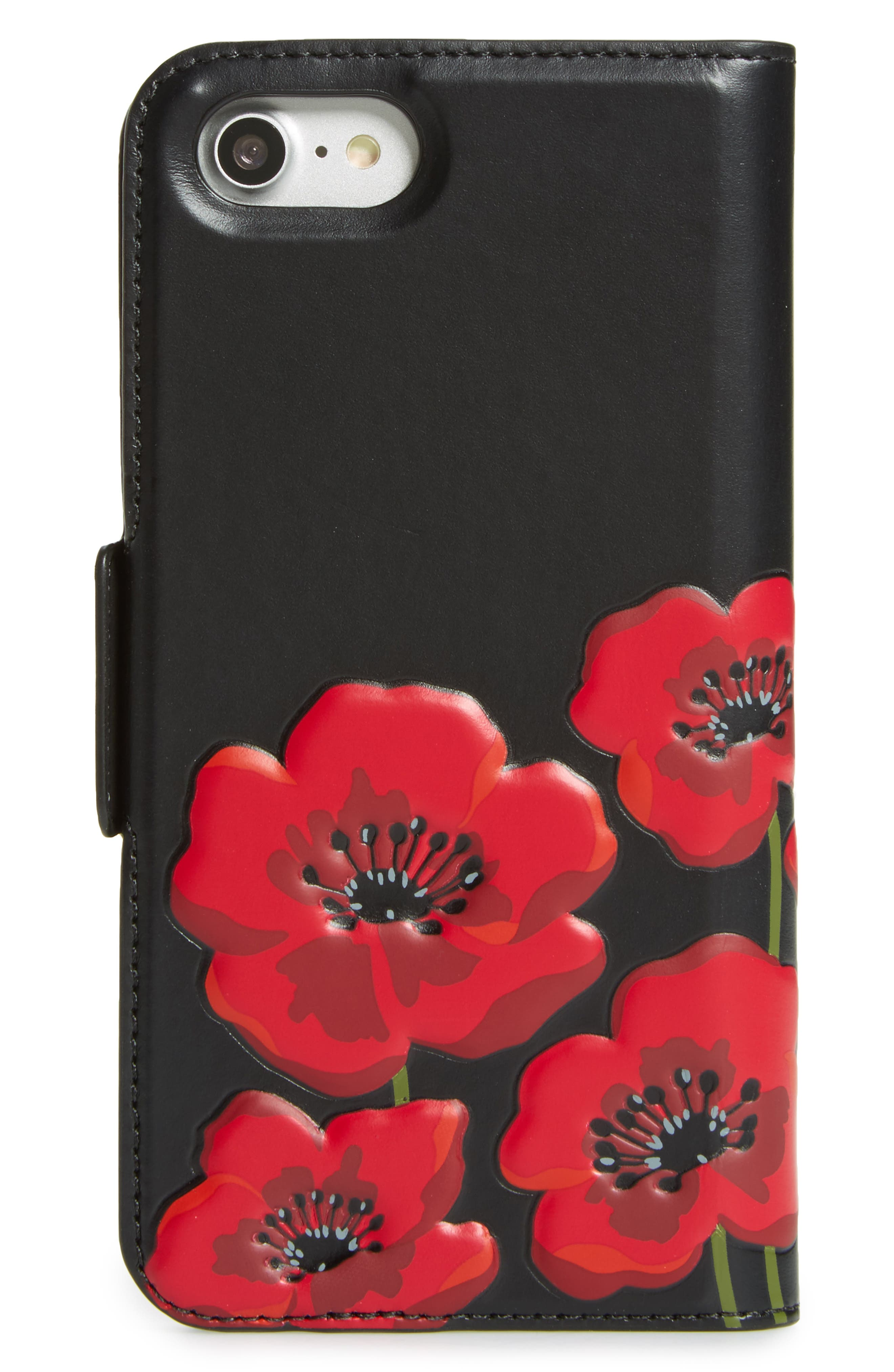 poppy iPhone 7/8 & 7/8 Plus folio case,                             Alternate thumbnail 3, color,                             002