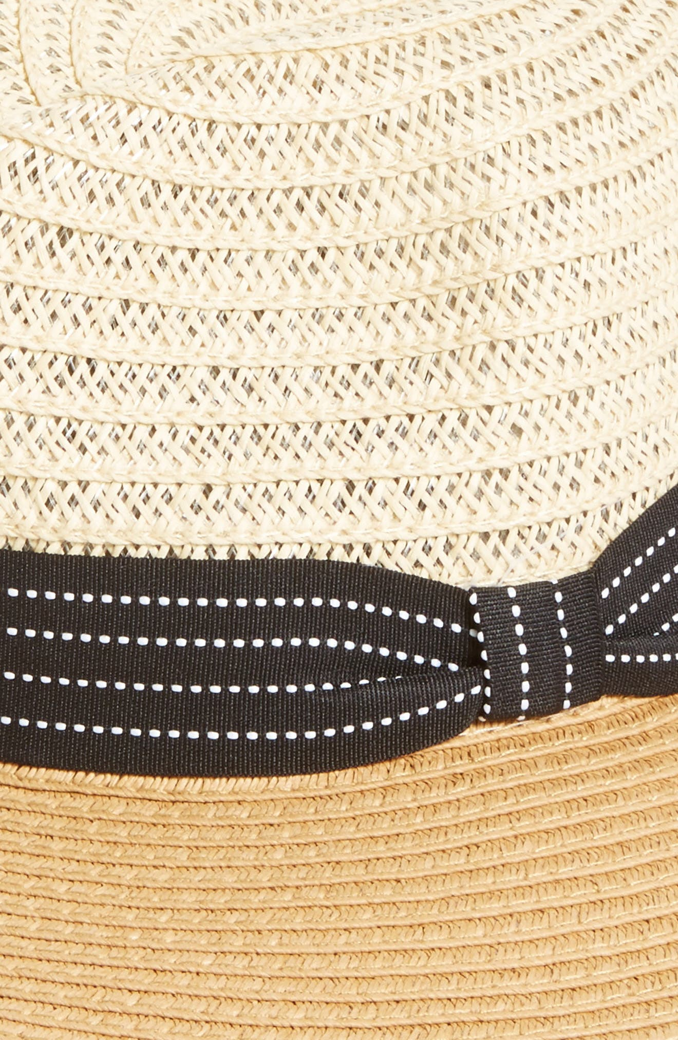 Two Tone Straw Panama Hat,                             Alternate thumbnail 2, color,                             250