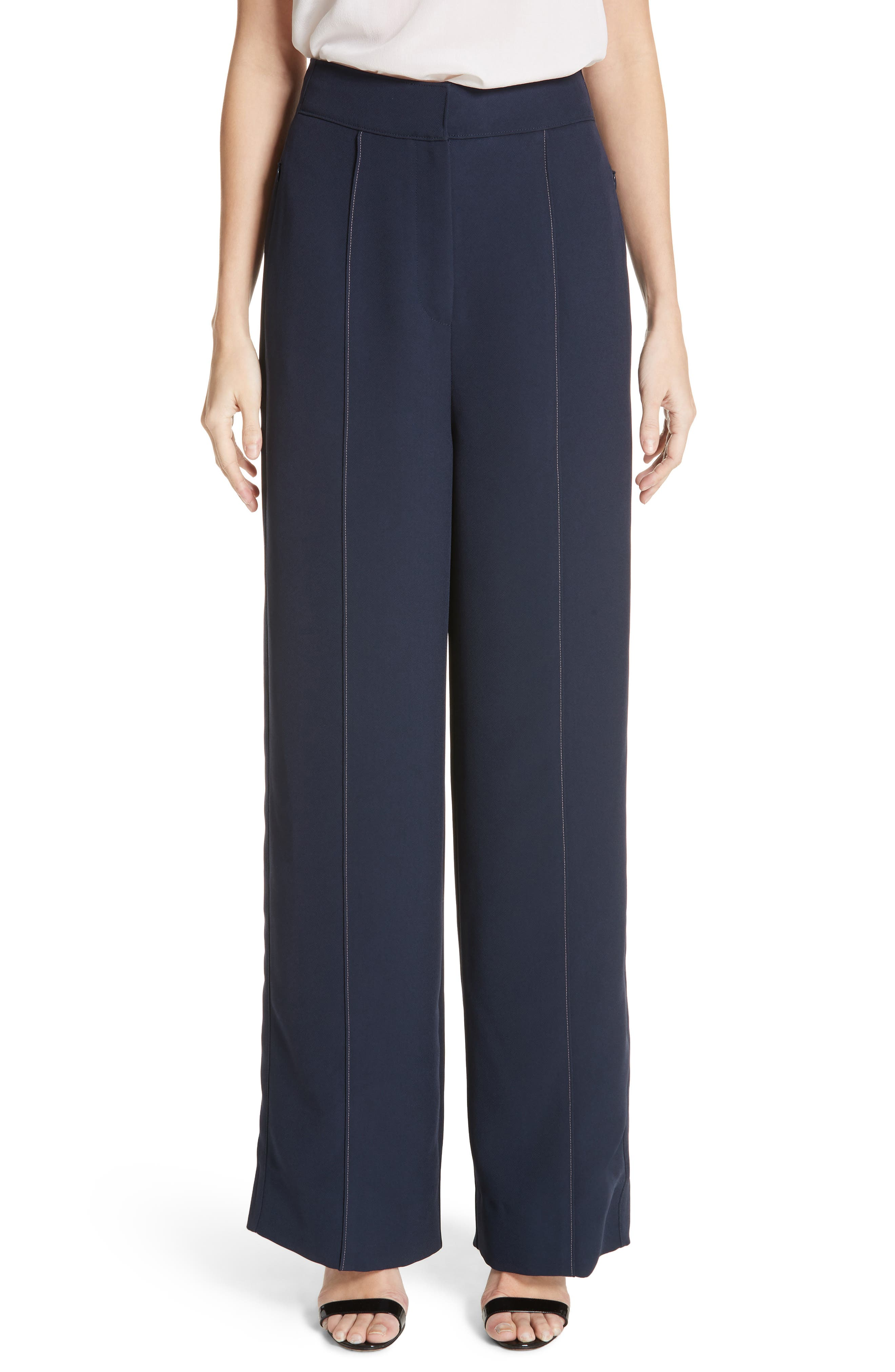 Lapari Pintuck Trousers,                             Main thumbnail 1, color,                             400
