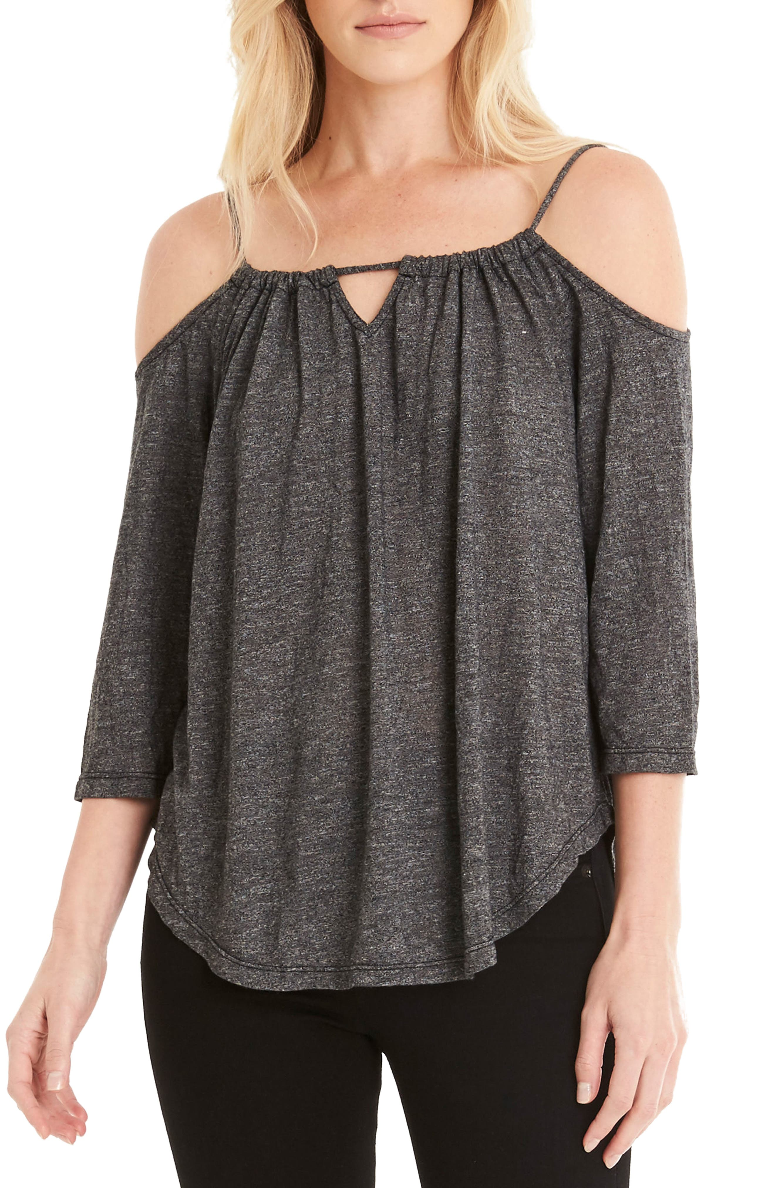 Switchable Off the Shoulder Top,                             Main thumbnail 1, color,                             001