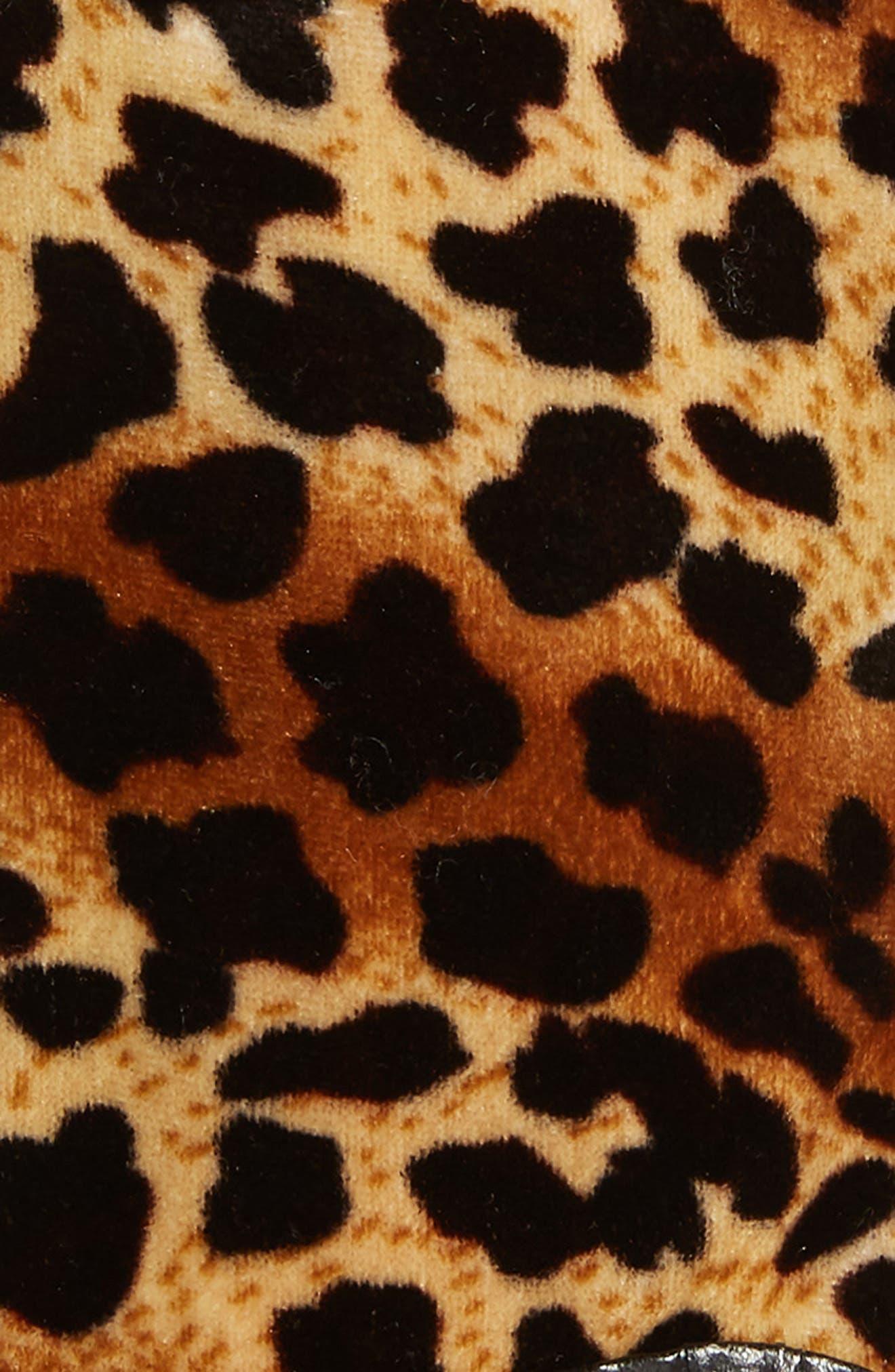 LEITH,                             Leopard Print Velvet Gloves,                             Alternate thumbnail 2, color,                             200