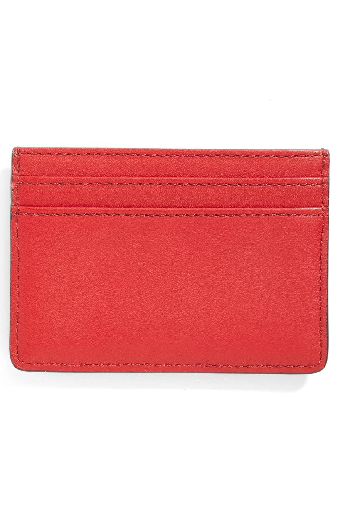 Rooster Leather Card Case,                             Alternate thumbnail 5, color,                             647