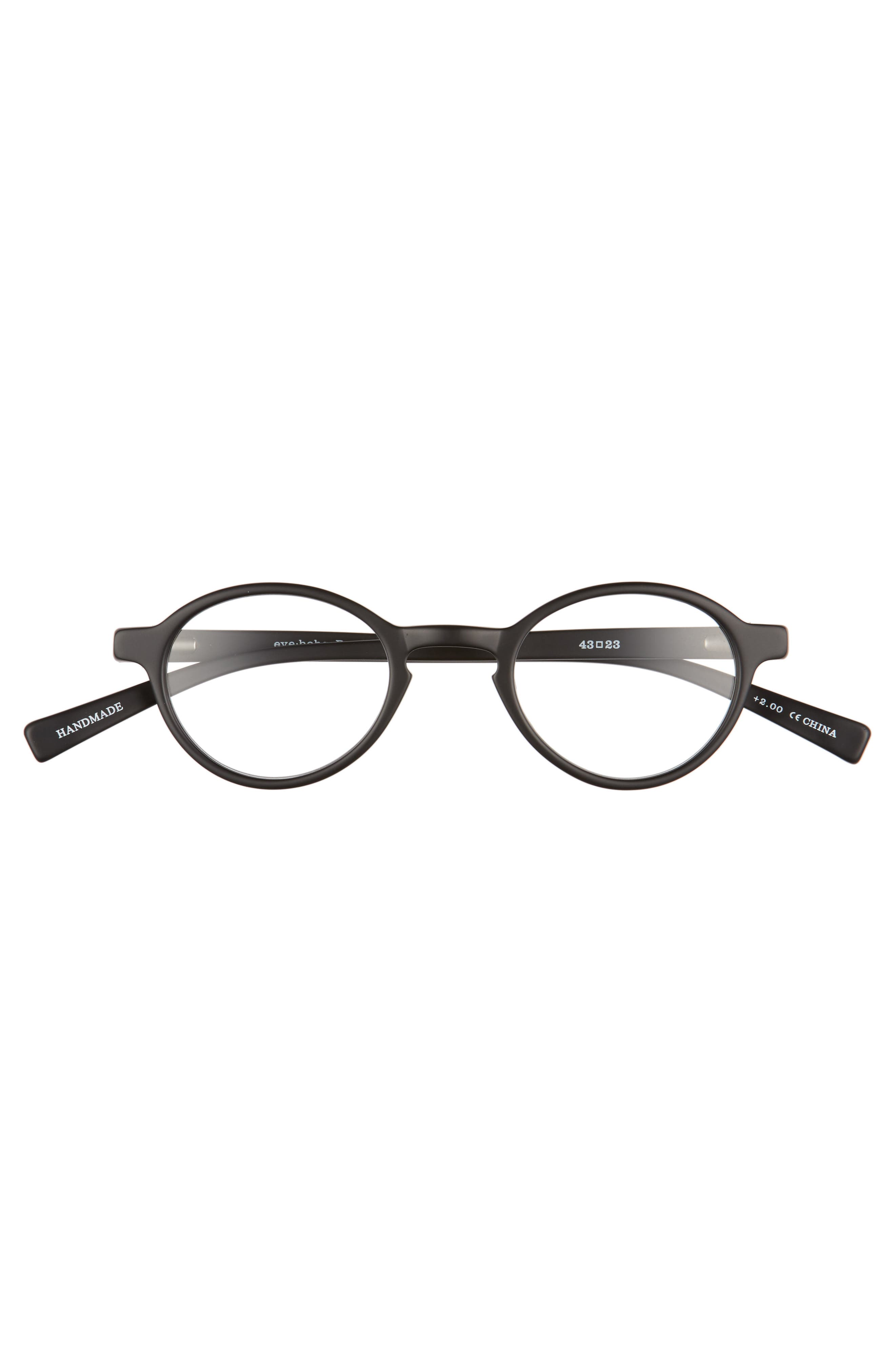 Board Stiff 43mm Reading Glasses,                             Alternate thumbnail 2, color,                             MATTE BLACK