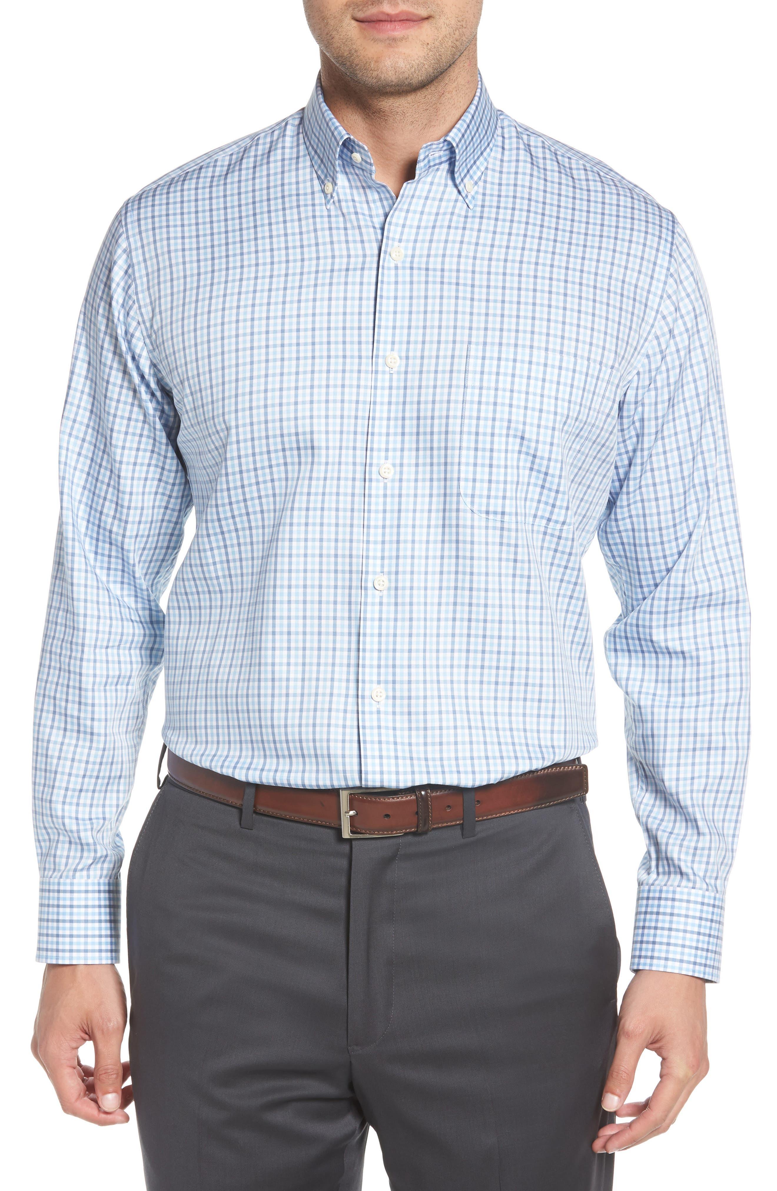 Lake City Regular Fit Tattersall Sport Shirt,                         Main,                         color, COTTAGE BLUE