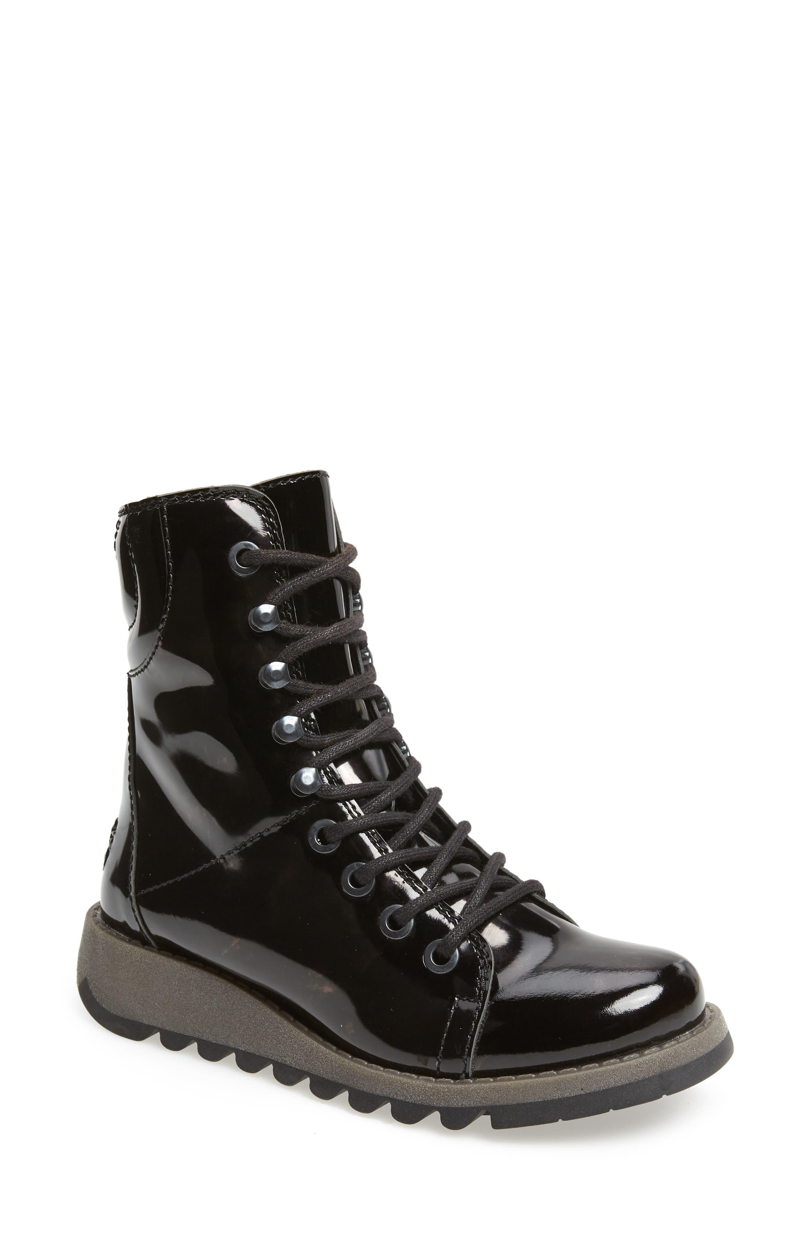 FLY LONDON,                             Same Lace-Up Boot,                             Main thumbnail 1, color,                             BLACK
