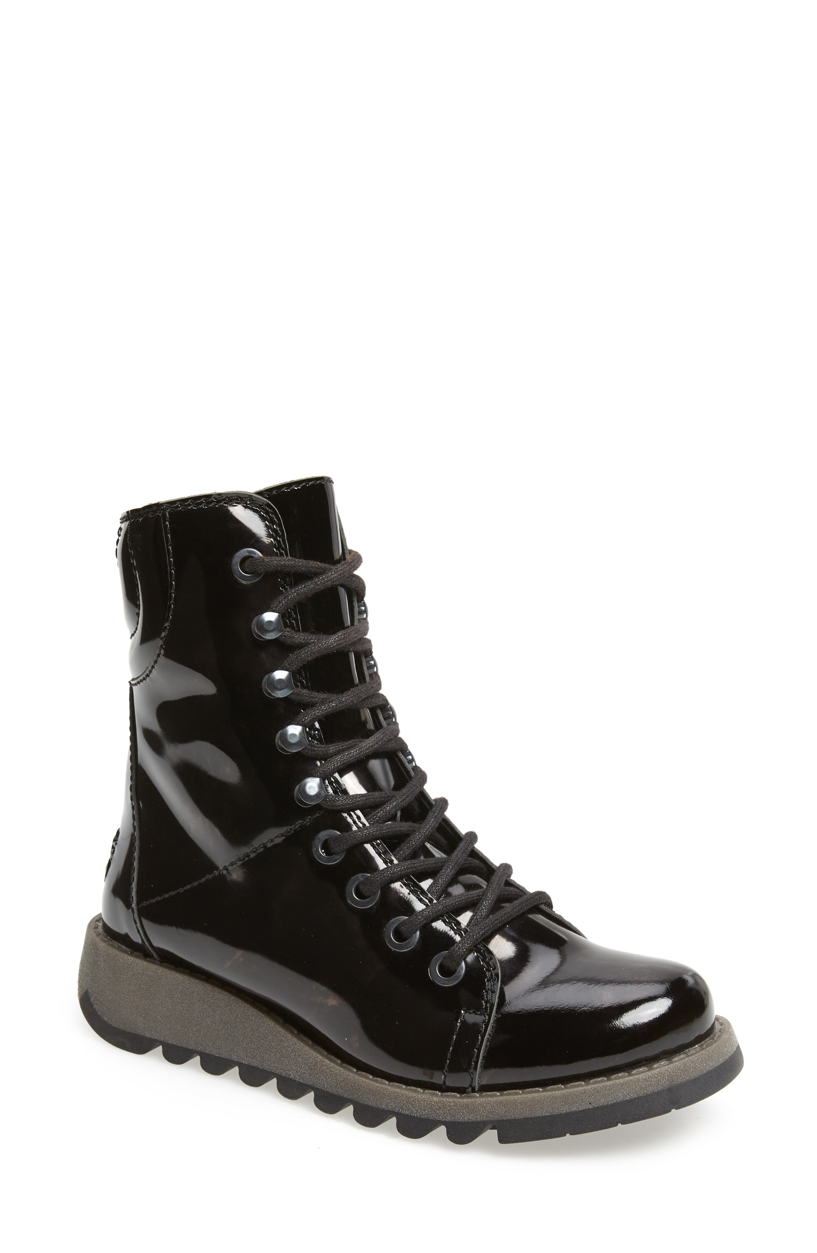Same Lace-Up Boot,                         Main,                         color, BLACK