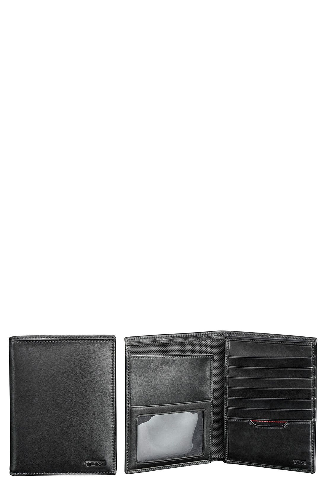 Delta Passport Case,                         Main,                         color, BLACK