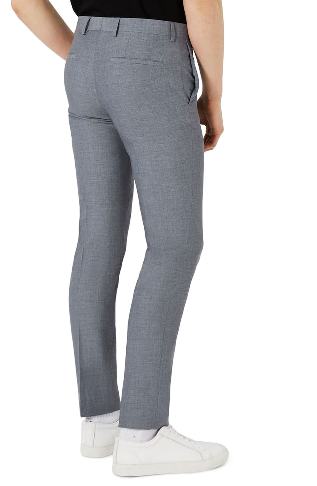 Skinny Fit Crosshatch Suit Trousers,                             Alternate thumbnail 2, color,                             420