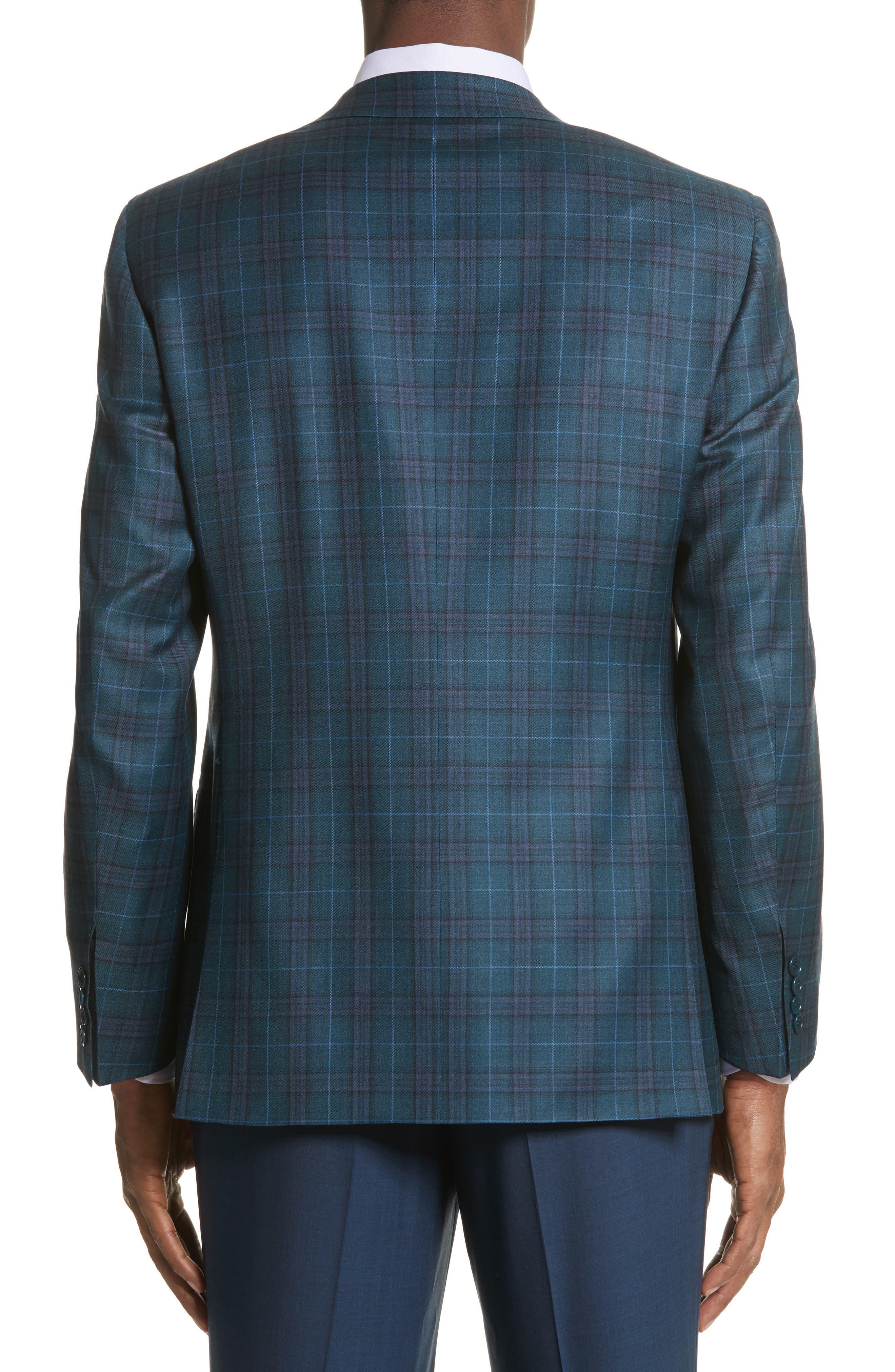 Classic Fit Plaid Wool Sport Coat,                             Alternate thumbnail 2, color,                             301