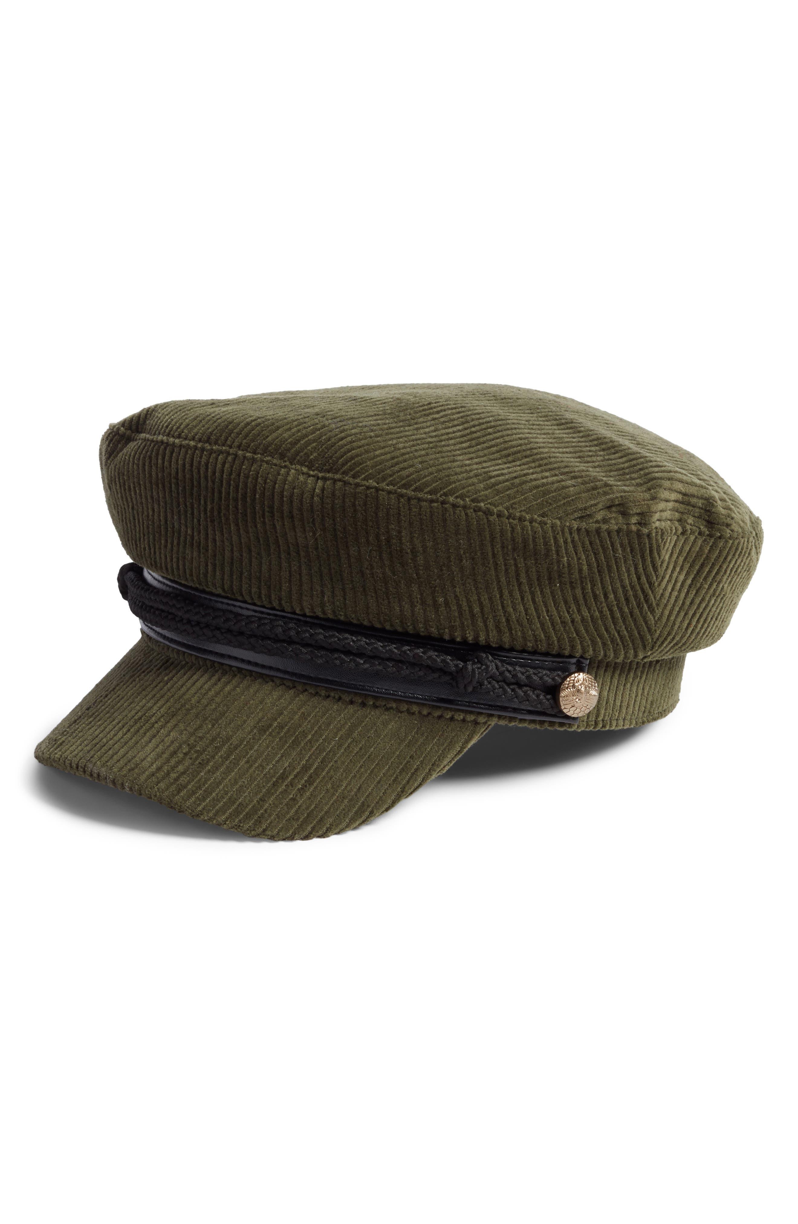 Corduroy Baker Boy Hat,                         Main,                         color, OLIVE