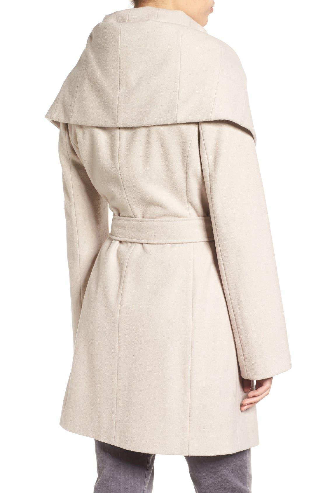 T Tahari Wool Blend Belted Wrap Coat,                             Alternate thumbnail 27, color,