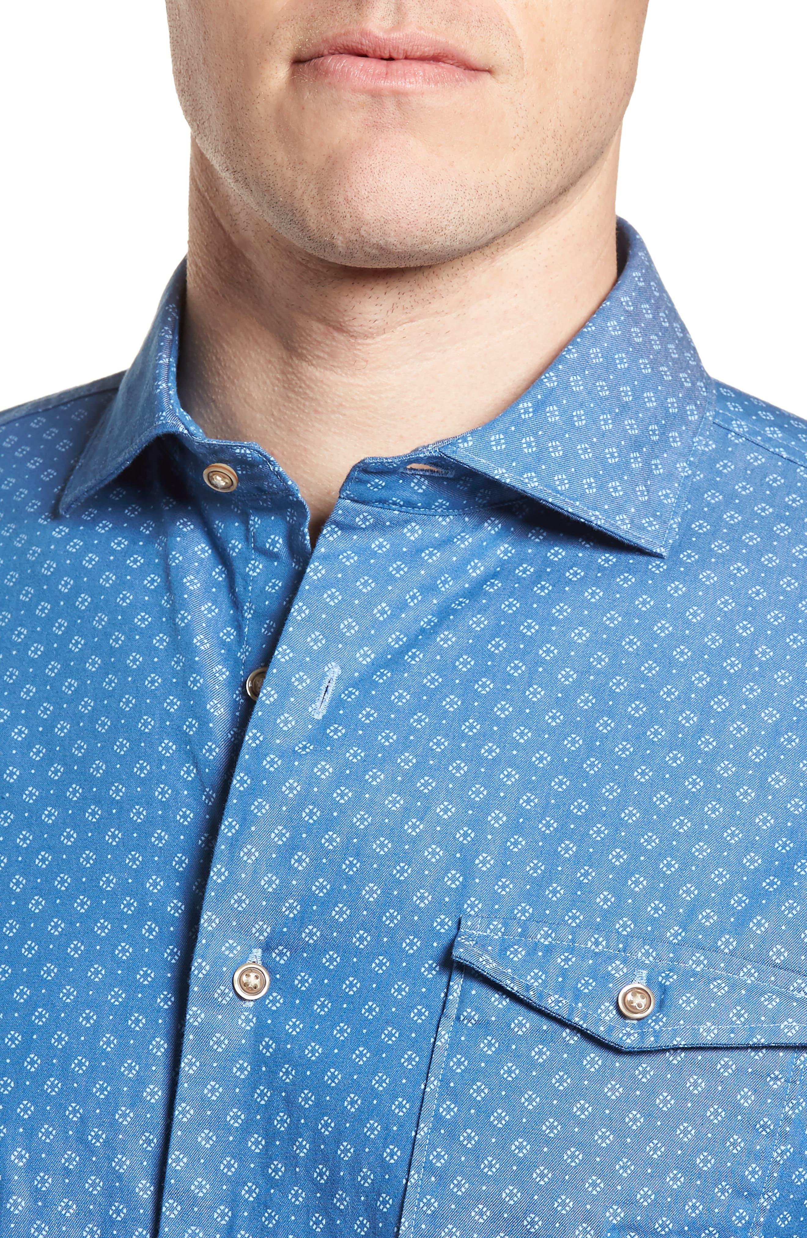 Barclay Regular Fit Sport Shirt,                             Alternate thumbnail 4, color,                             250