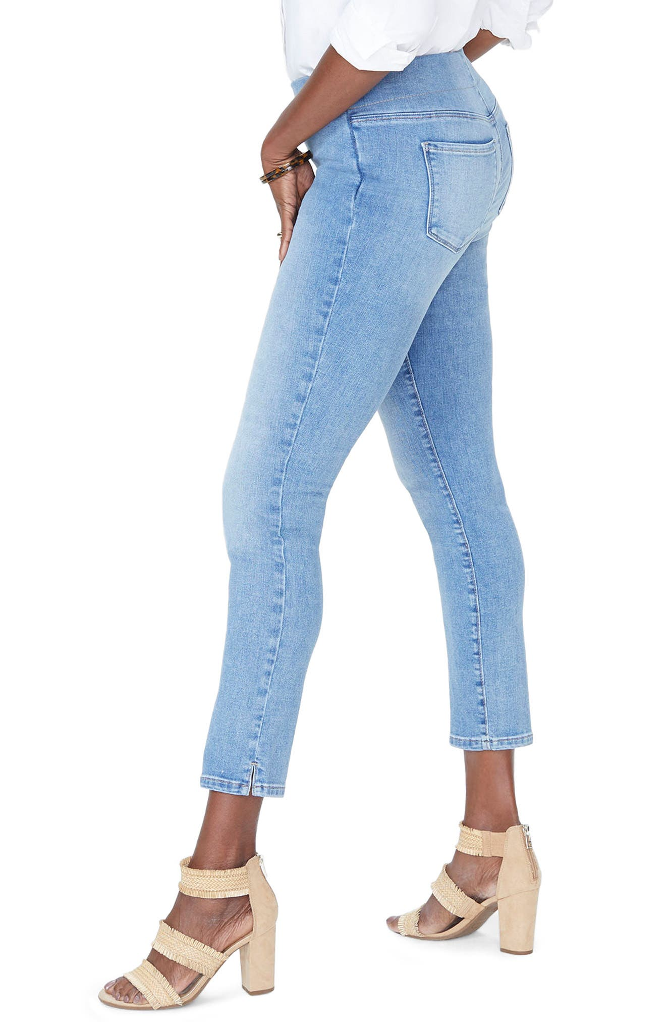 Alina High Waist  Pull-On Ankle Skinny Jeans,                             Alternate thumbnail 3, color,                             CLEAN DREAM STATE