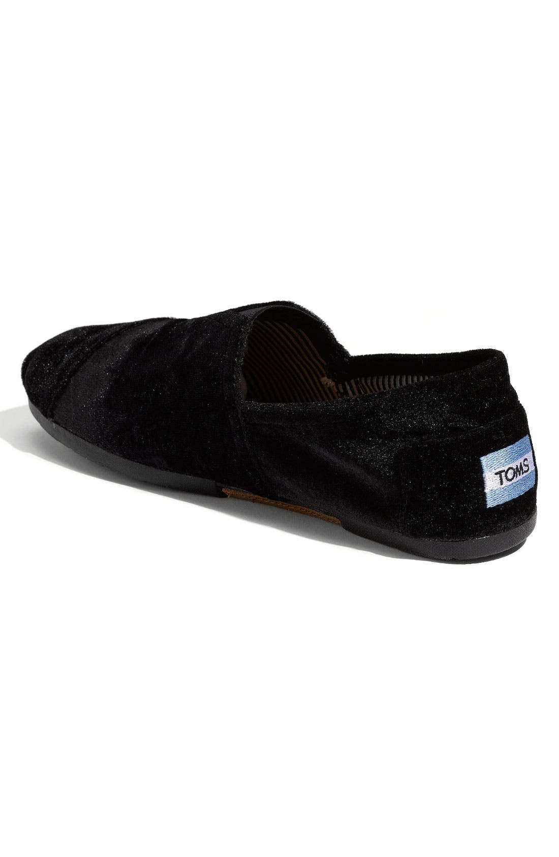 'Classic' Velvet Slip-On,                             Alternate thumbnail 2, color,                             001