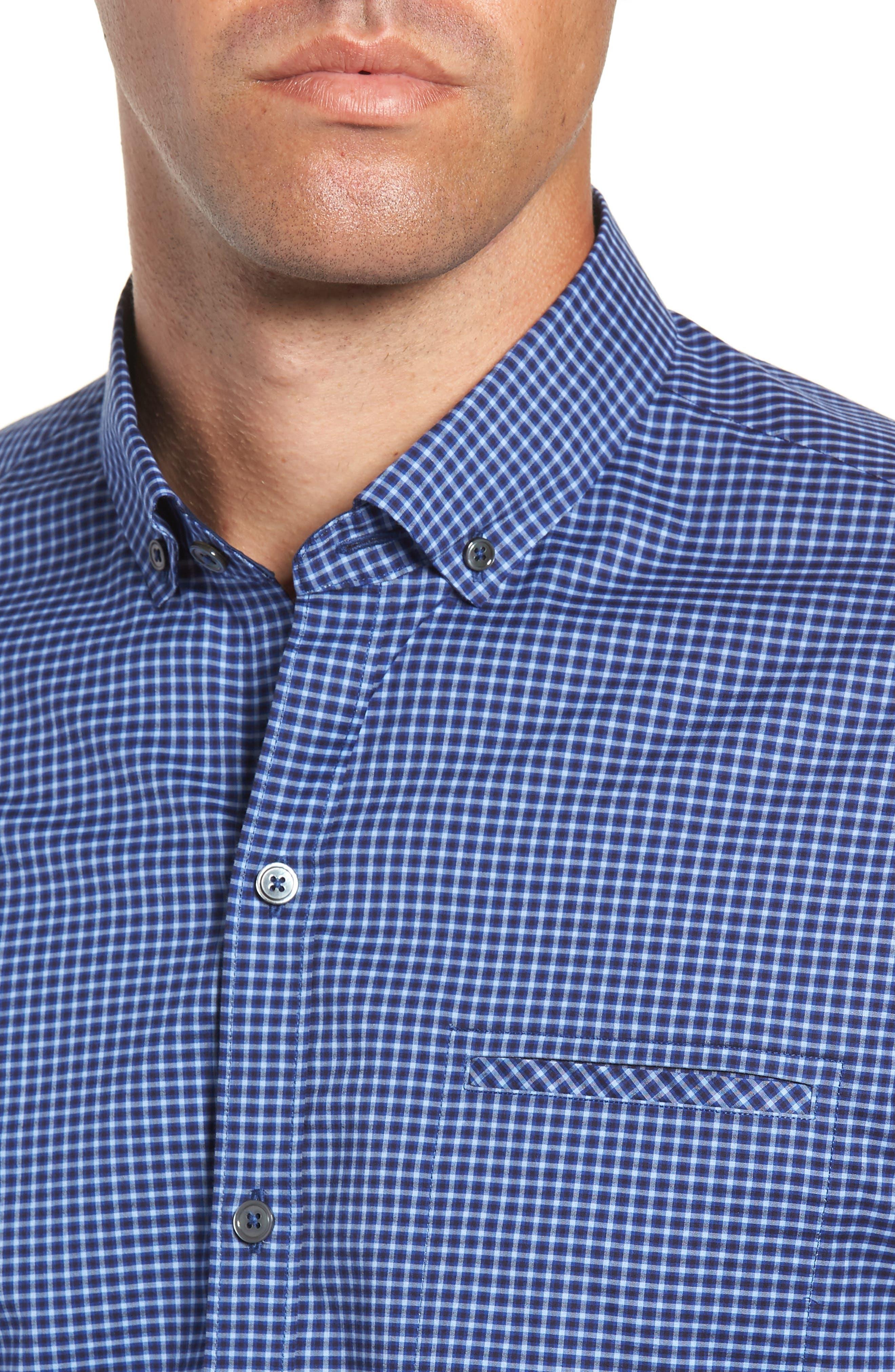 Matusiak Regular Fit Check Sport Shirt,                             Alternate thumbnail 2, color,                             MIDNIGHT