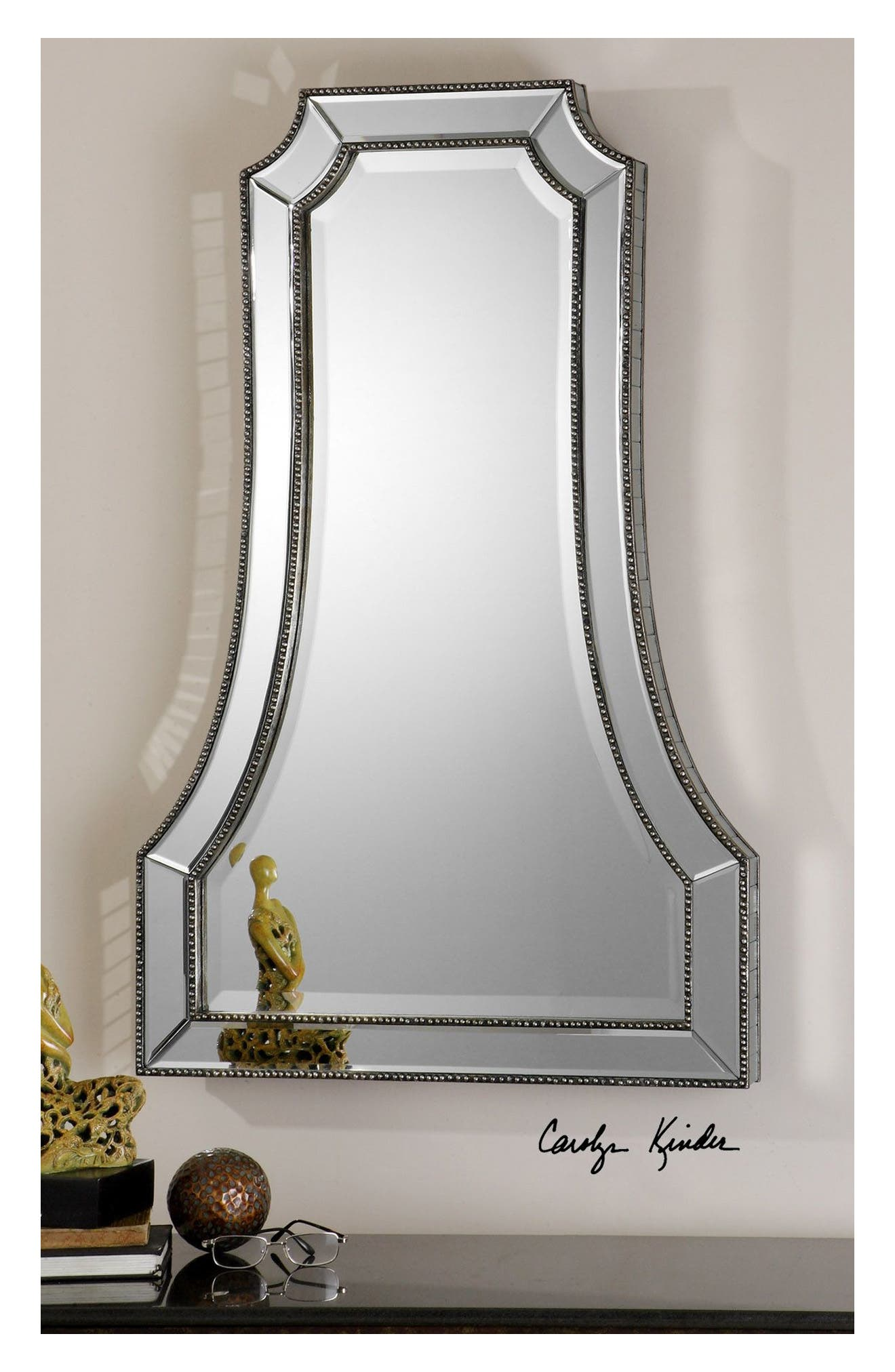 'Cattaneo' Beaded Mirror,                             Alternate thumbnail 4, color,                             040