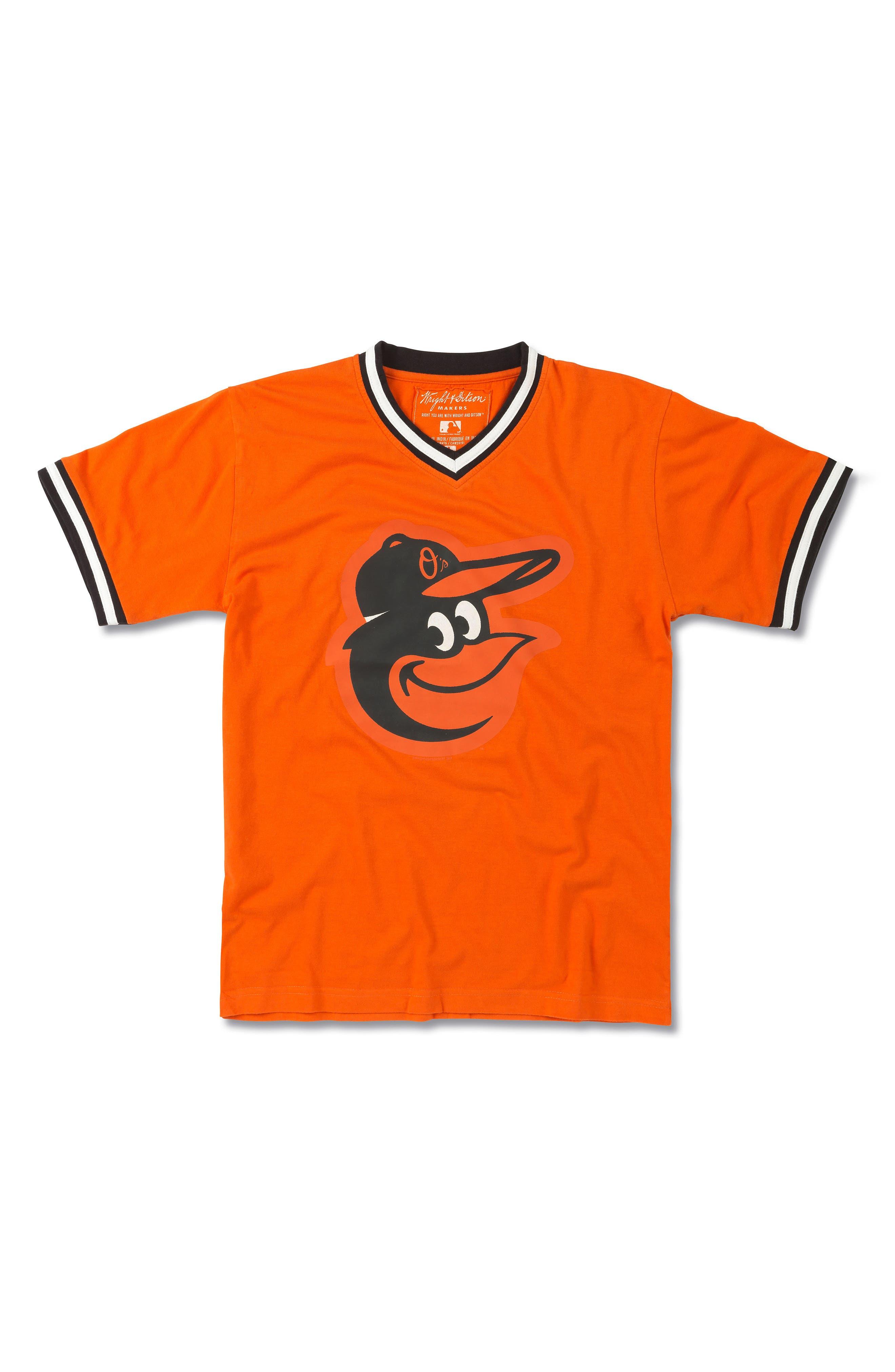 WRIGHT & DITSON Baltimore Orioles T-Shirt, Main, color, 801