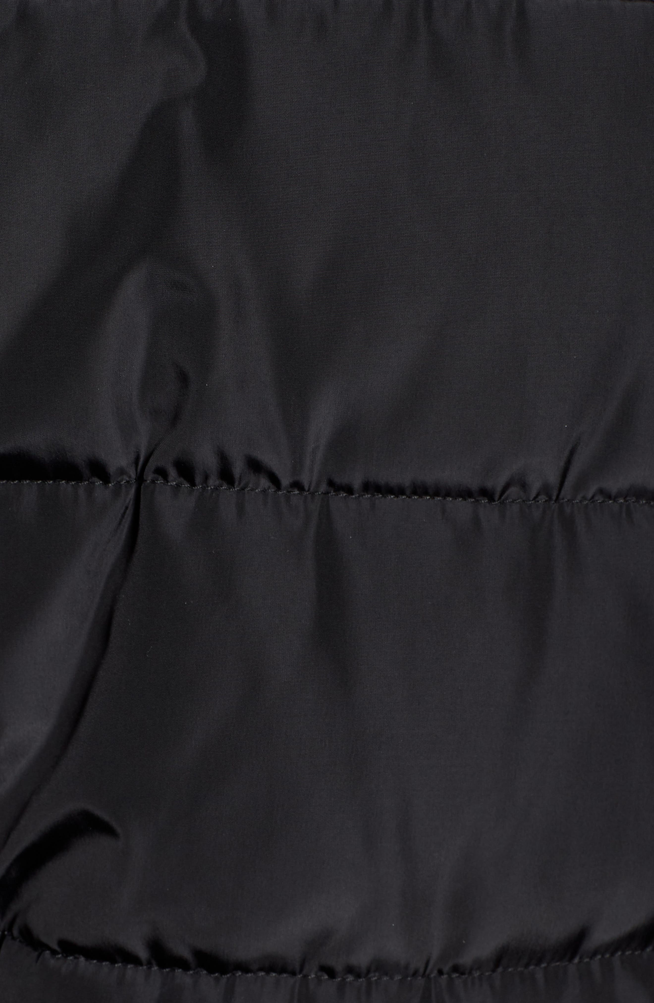 Faux Shearling Hybrid Jacket,                             Alternate thumbnail 7, color,                             BLACK