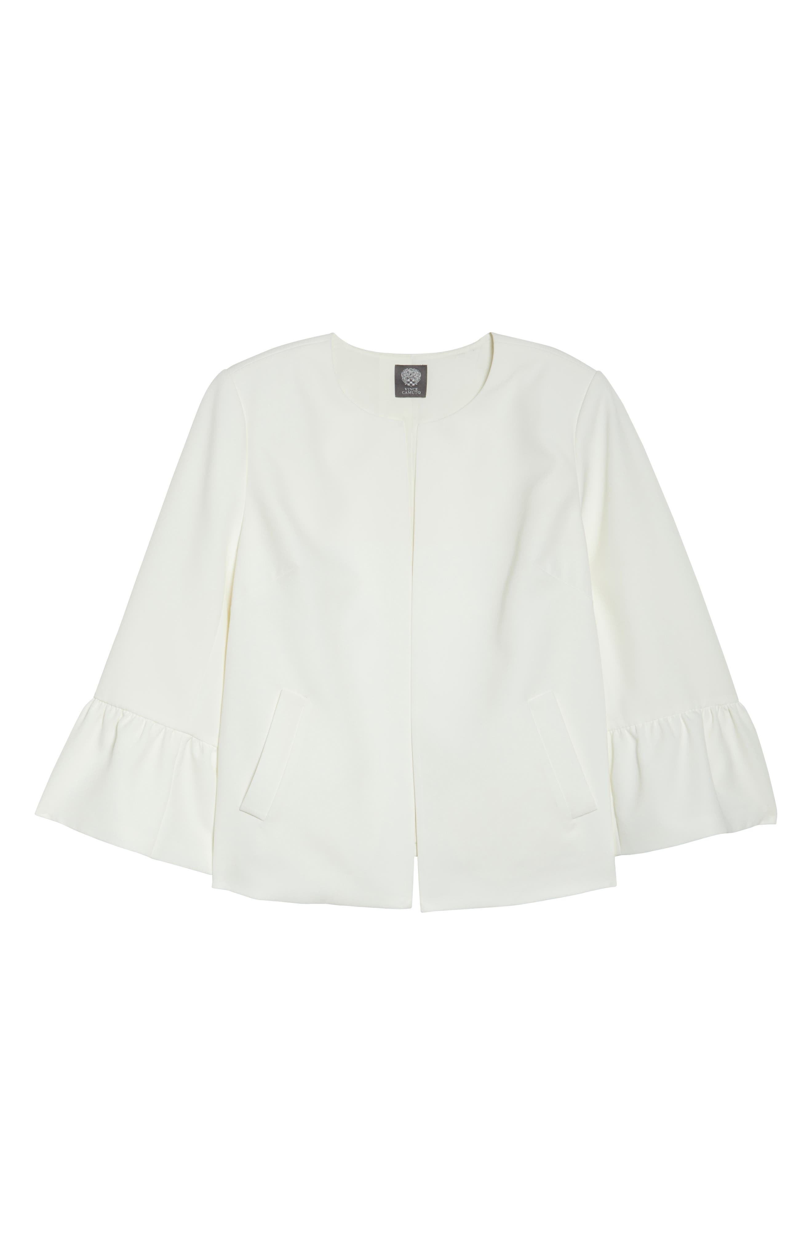 Ruffle Sleeve Jacket,                             Alternate thumbnail 5, color,                             903