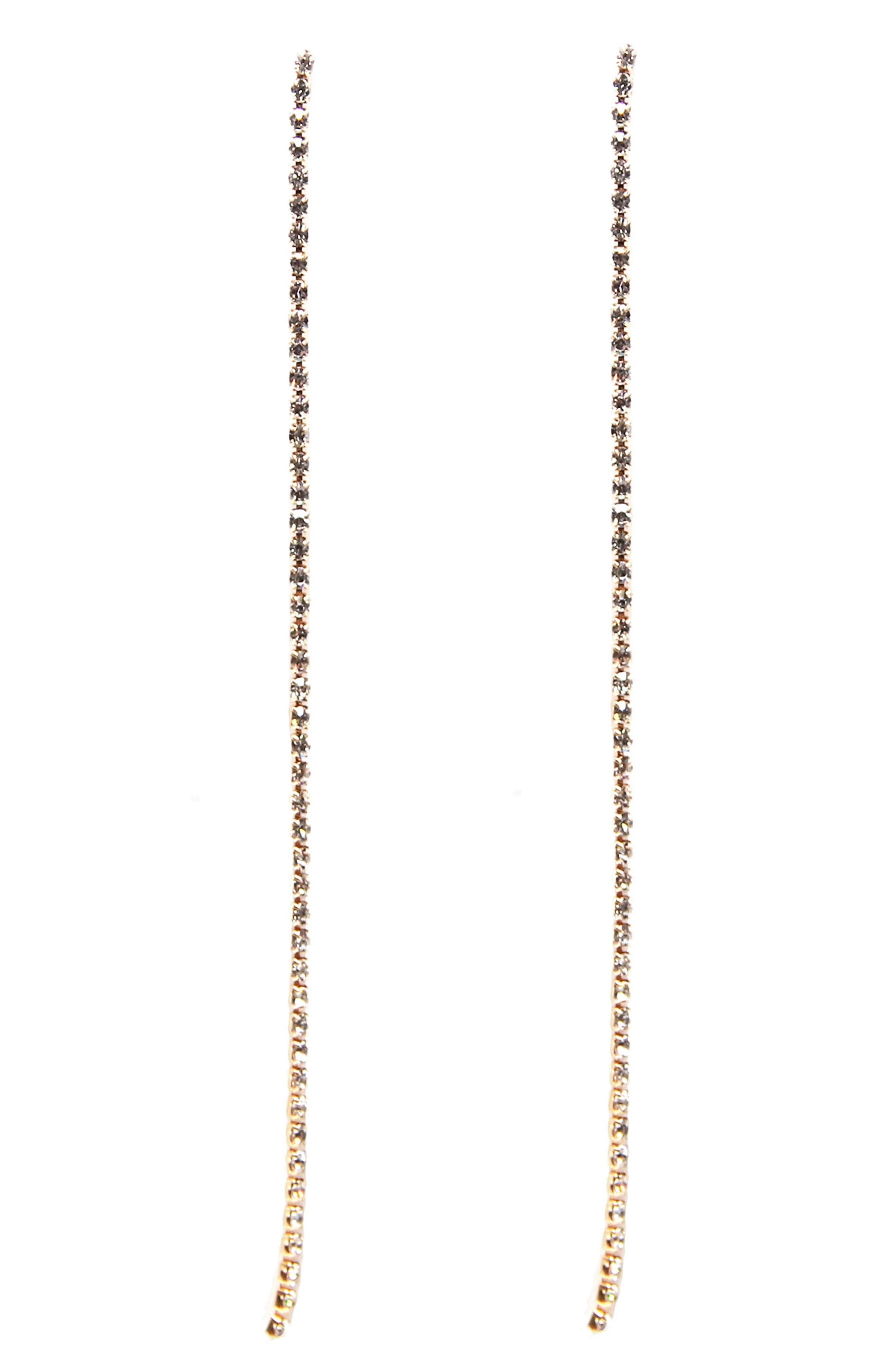 Crystal Chain Earrings,                             Main thumbnail 1, color,                             710