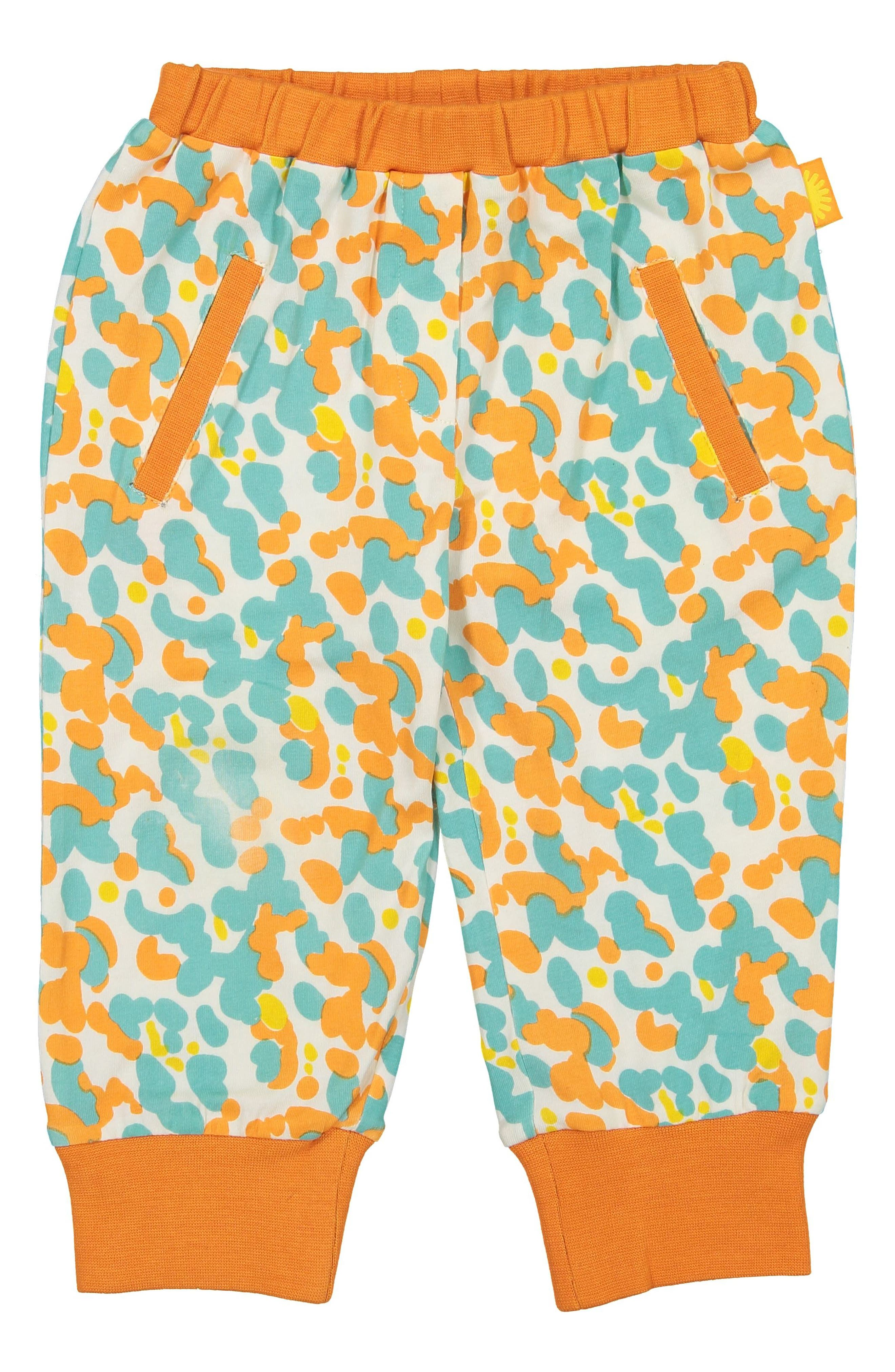 Spotted Stretch Organic Cotton Jogger Pants,                         Main,                         color, BLUE