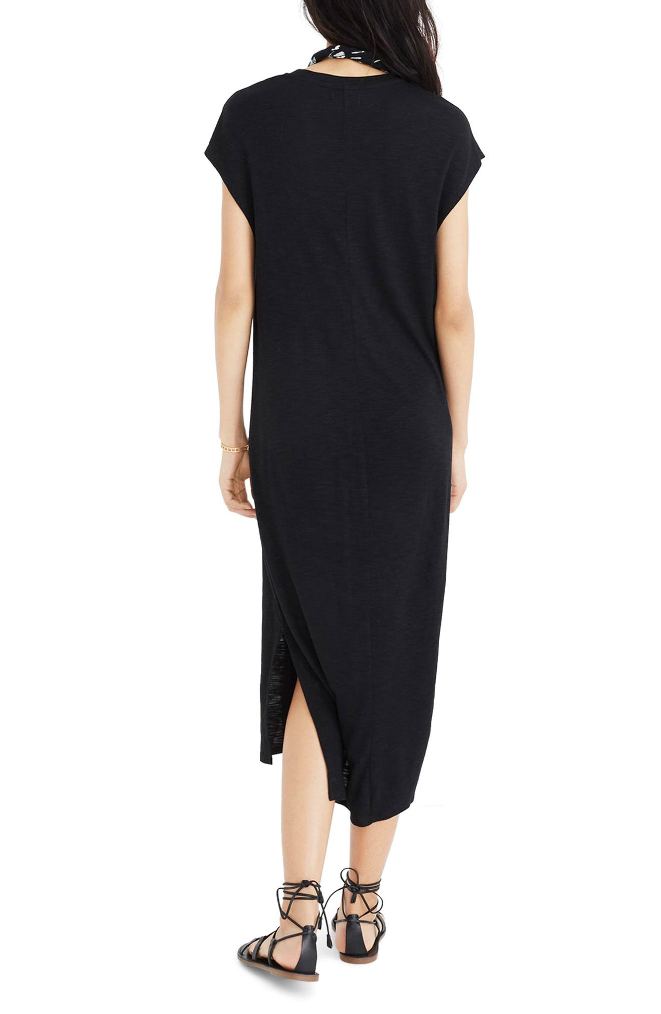 Muscle Midi Dress,                             Alternate thumbnail 2, color,                             001
