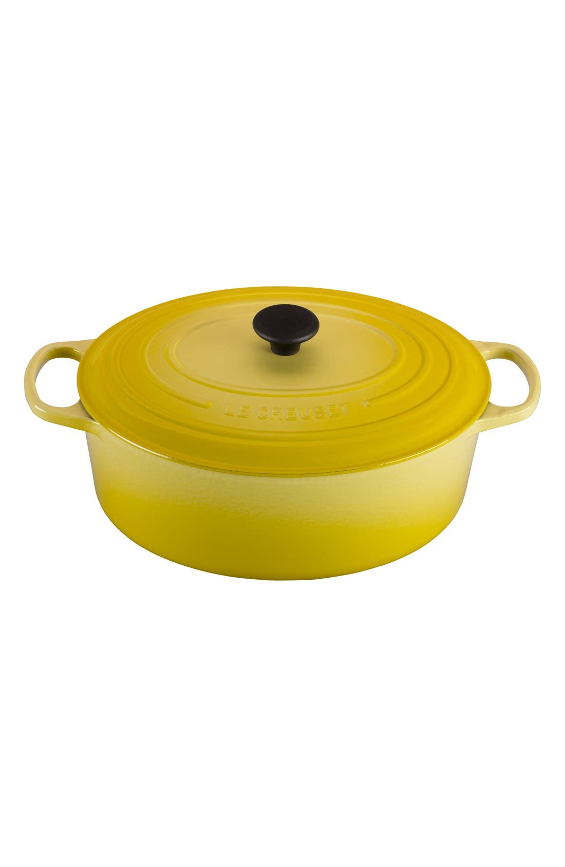 Signature 9 1/2 Quart Oval Enamel Cast Iron French/Dutch Oven,                             Main thumbnail 7, color,