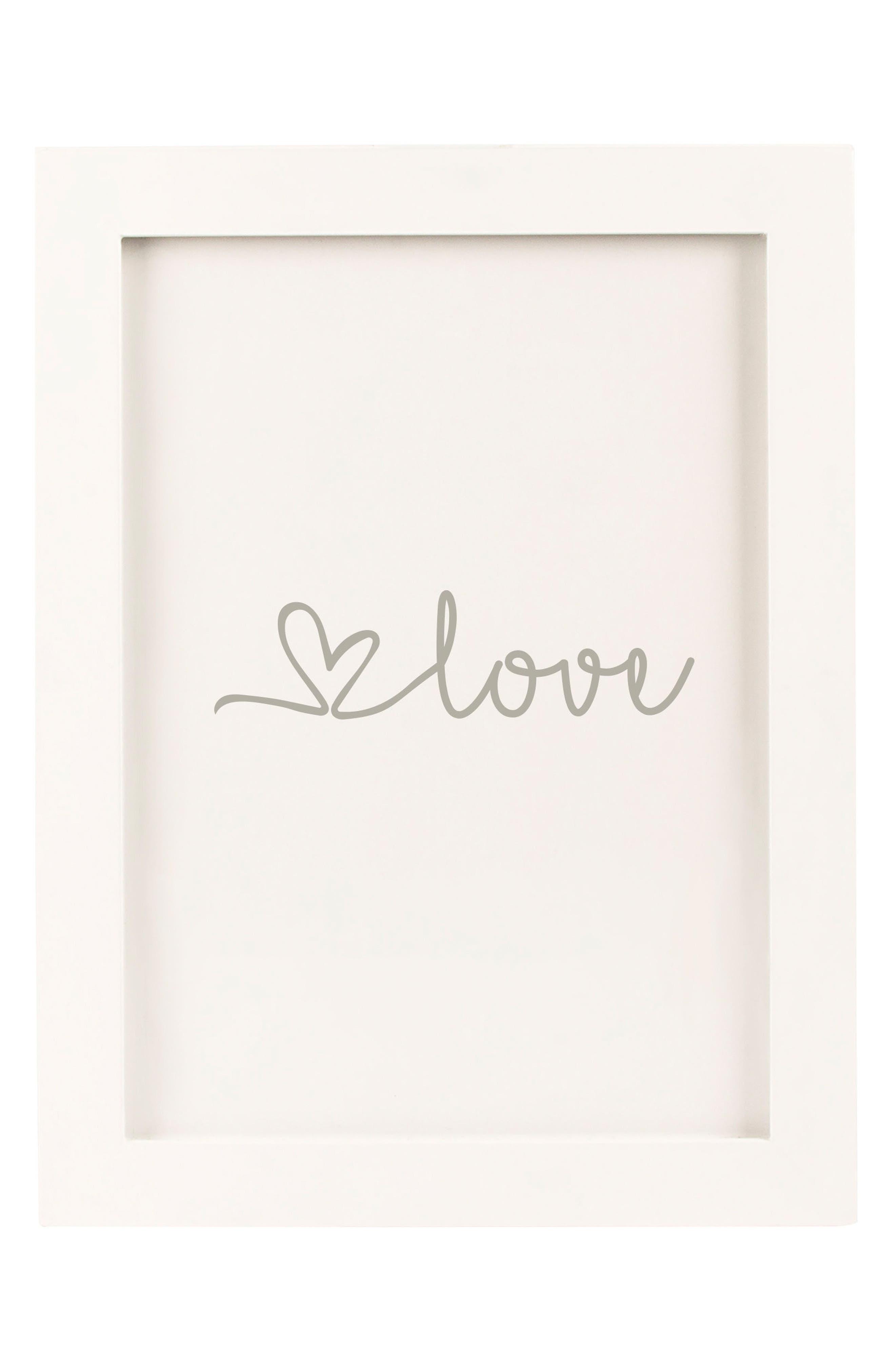 Monogram Love Heart Drop Guest Book,                         Main,                         color, 040
