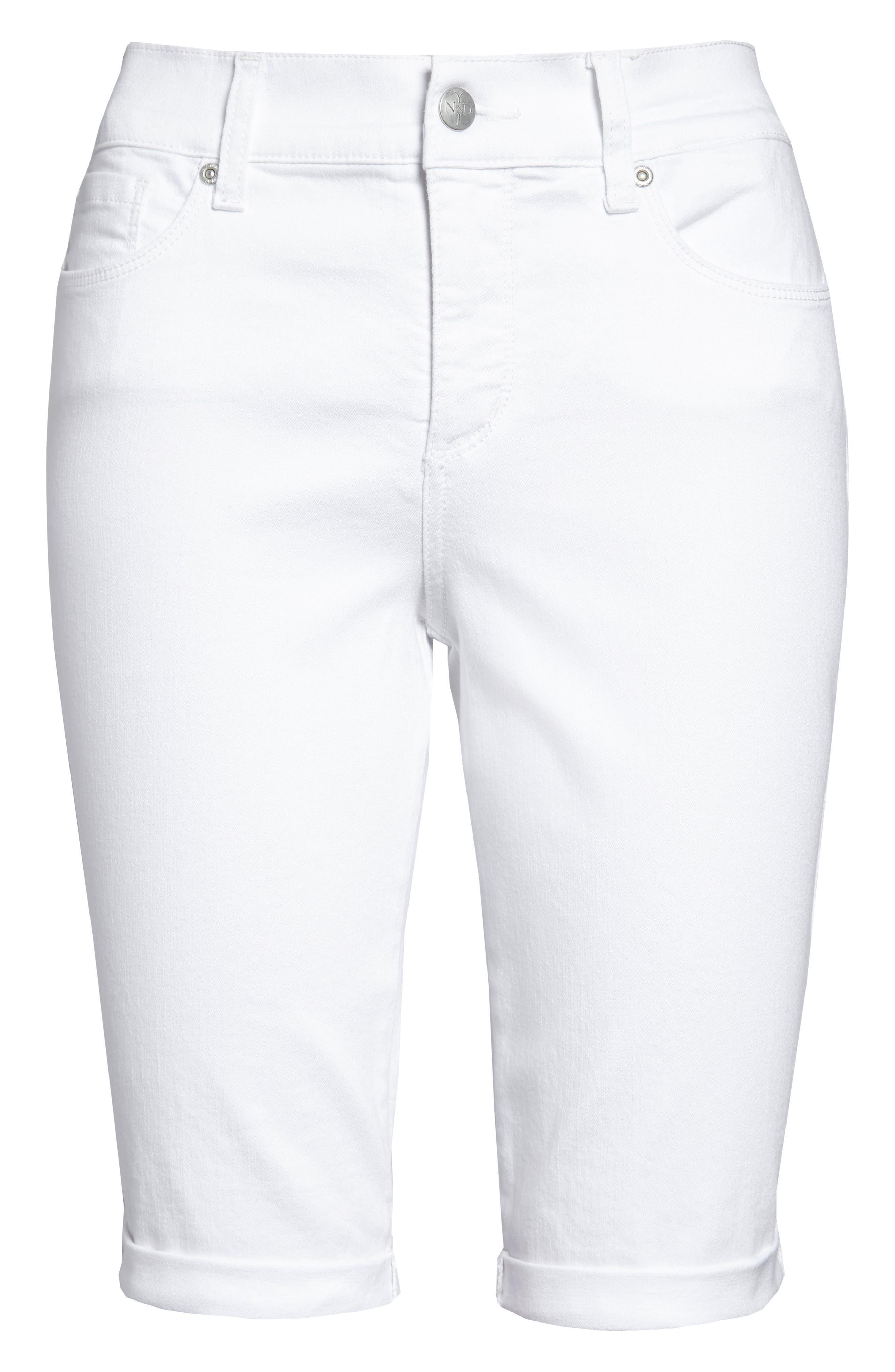 Briella Roll Cuff Bermuda Shorts,                             Alternate thumbnail 4, color,                             103